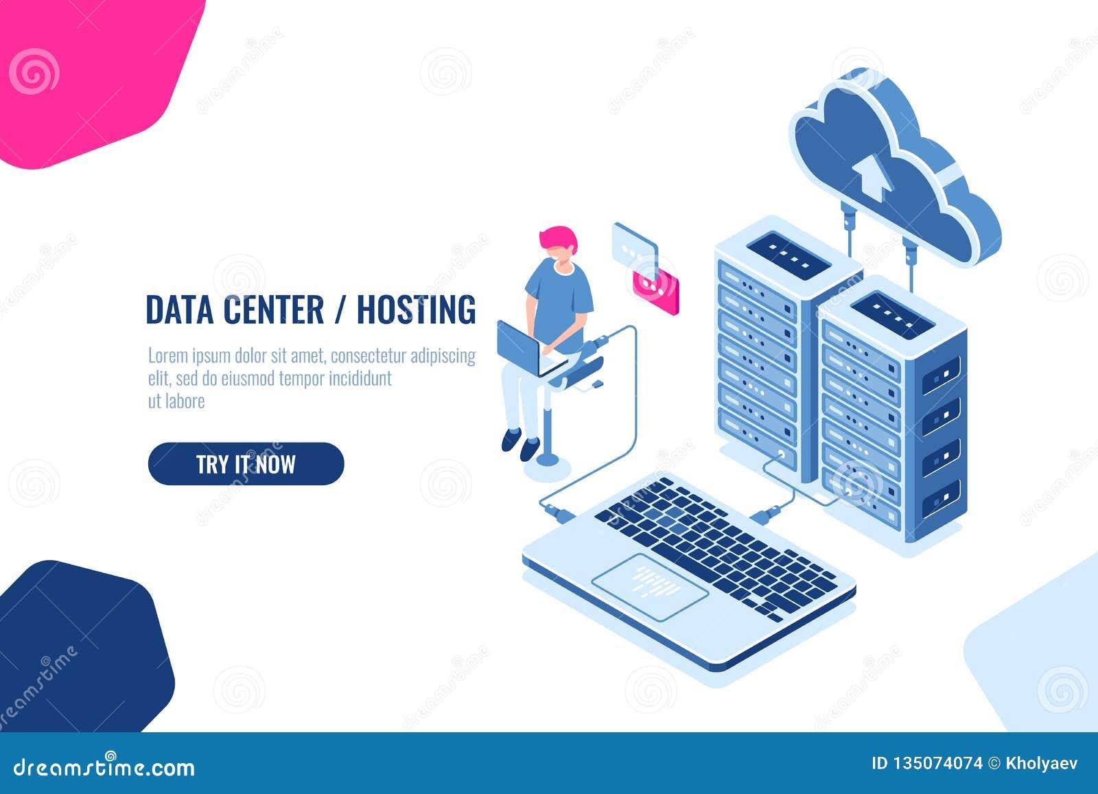 等量数据的演算和验核,工程师与云彩存贮一起使用,服务器室、datacenter和数据库象