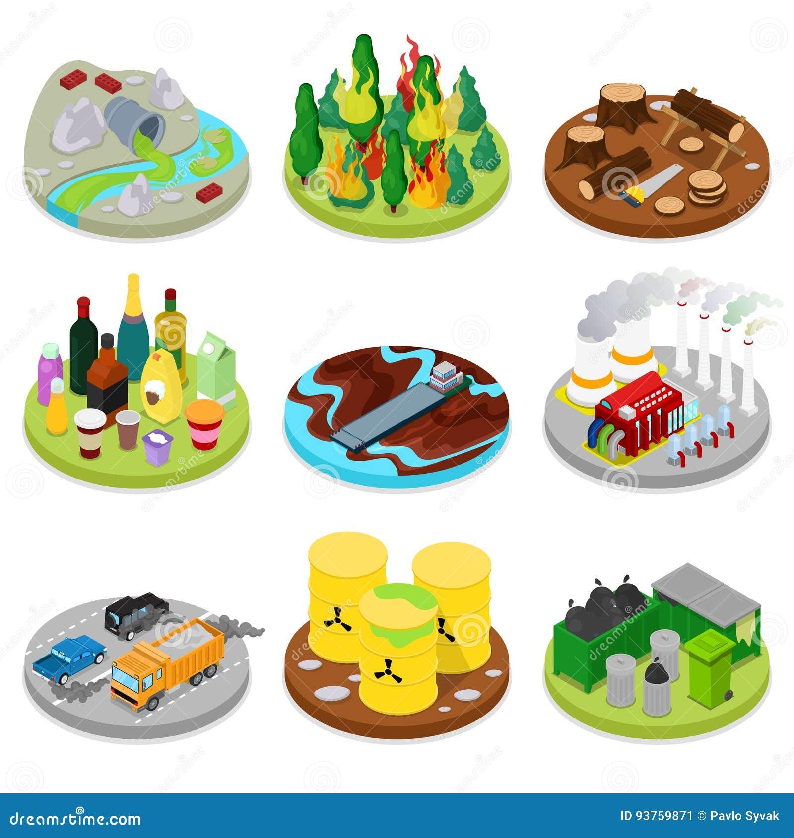 等量环境污染集合 化学制品废物 坏的水 编译行业