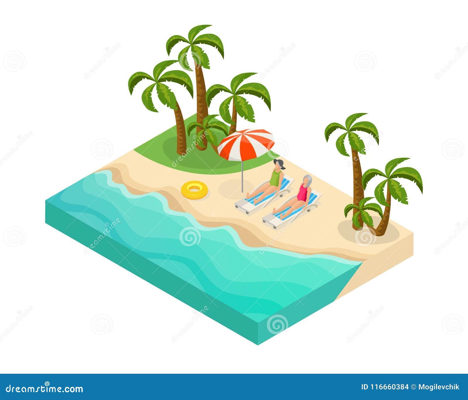 等量退休的人暑假概念
