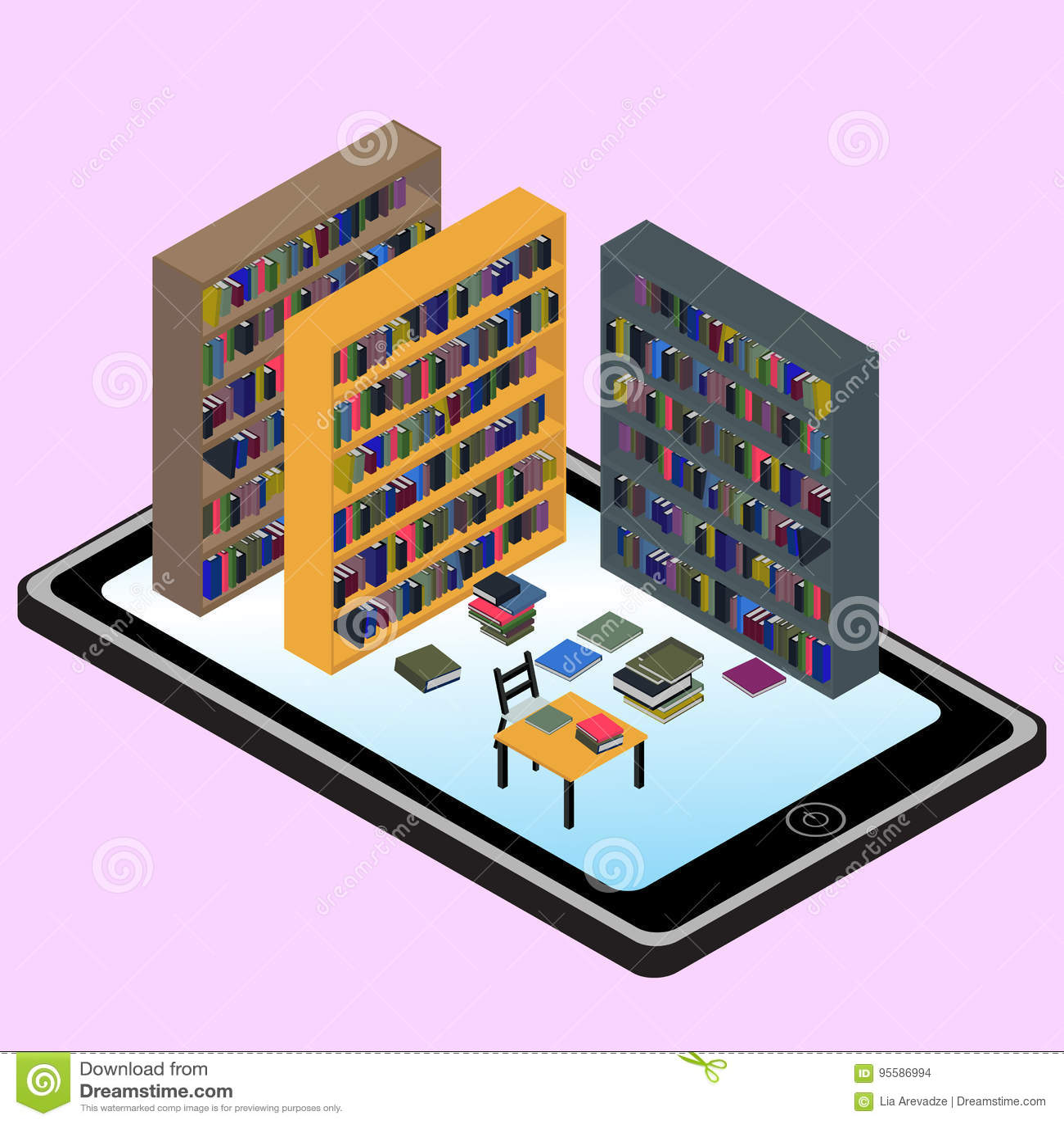 等量infographic关于图书馆和信息在MOBIL中