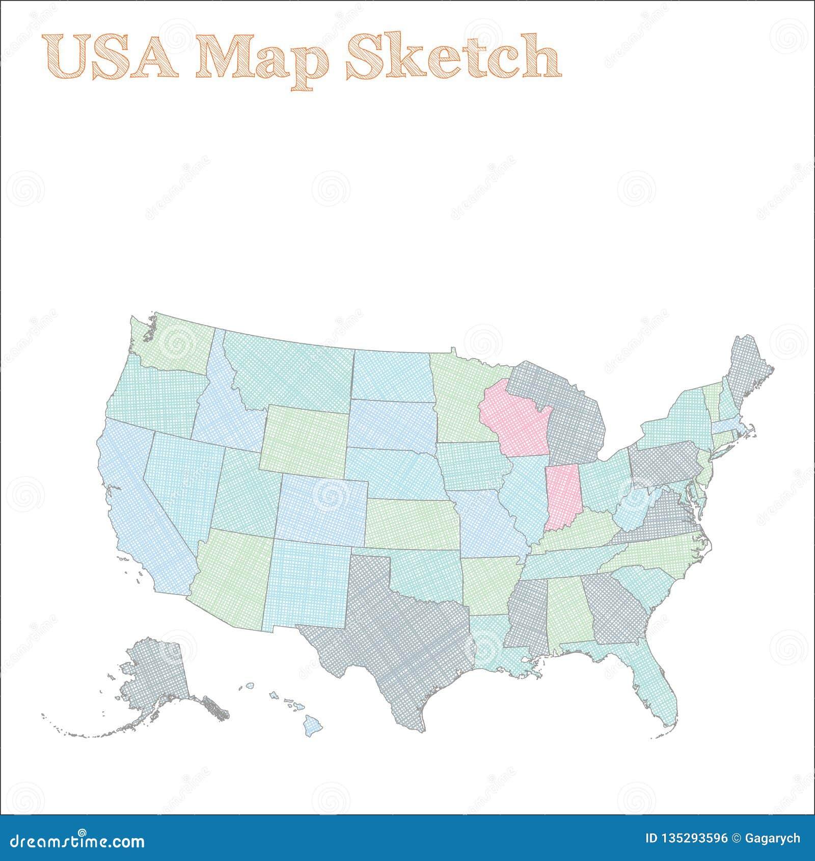 等高线图分级显示指明美国