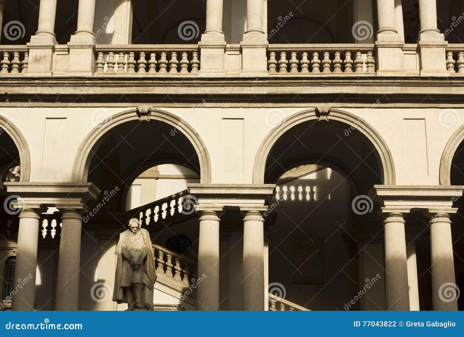 建筑关闭Accademia di Brera