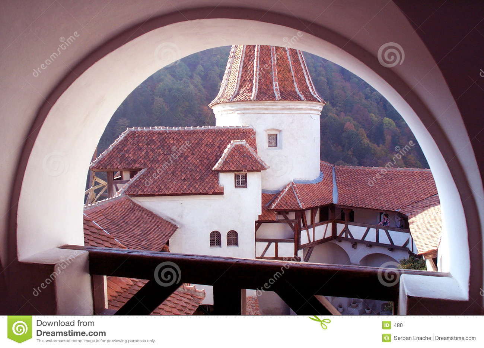 筑堡垒于的城堡庭院