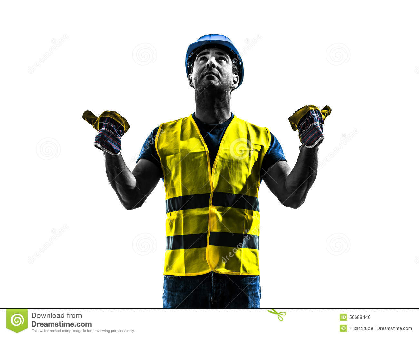 Download 建筑工人信号安全背心延伸景气剪影 库存照片. 图片 包括有 影子, 回旋, 信号, 陈列, 手工, 夹克 - 50688446