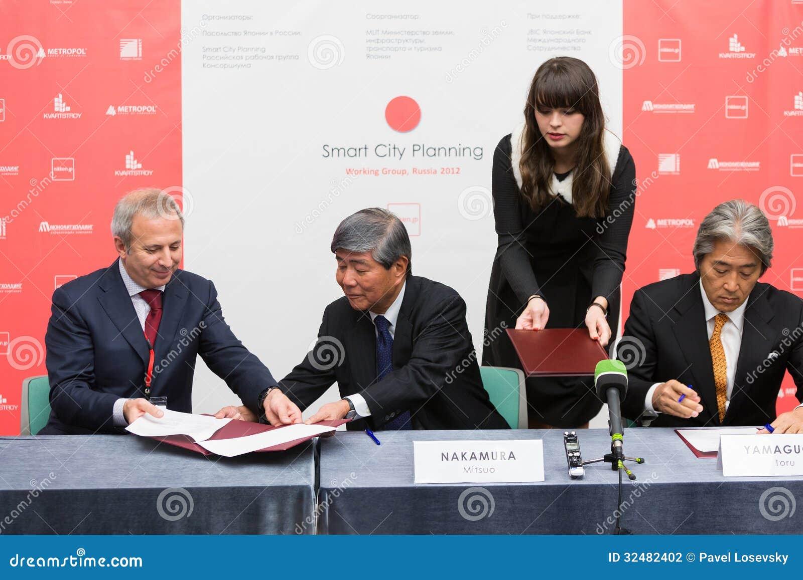 签字意向协定与几家私有俄国房地产公司的SCP