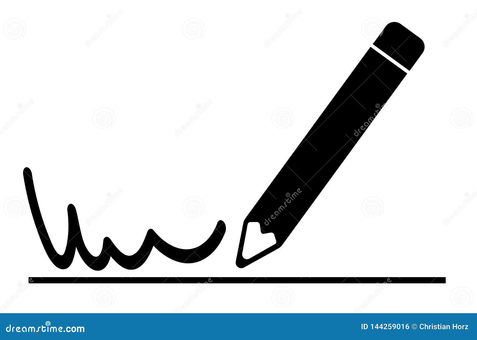 签署文件象的简单的平的署名