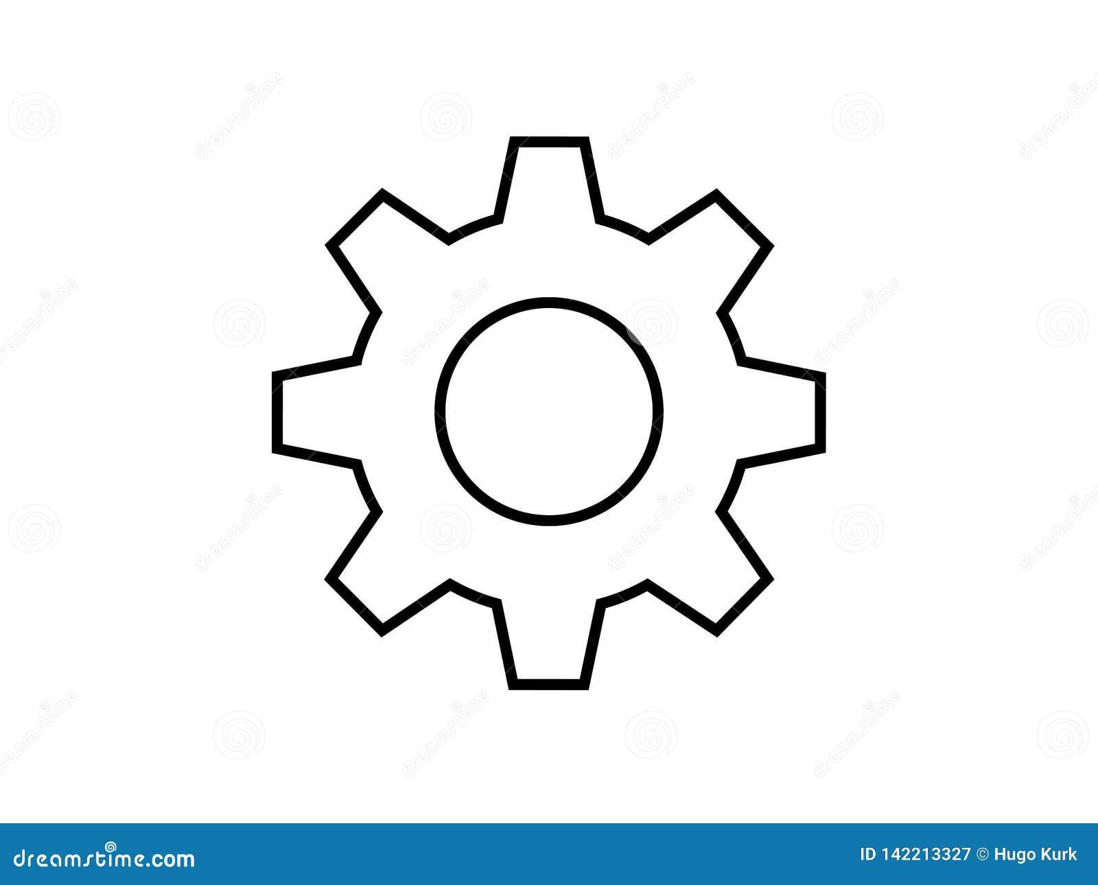 简单的嵌齿轮轮子例证标志