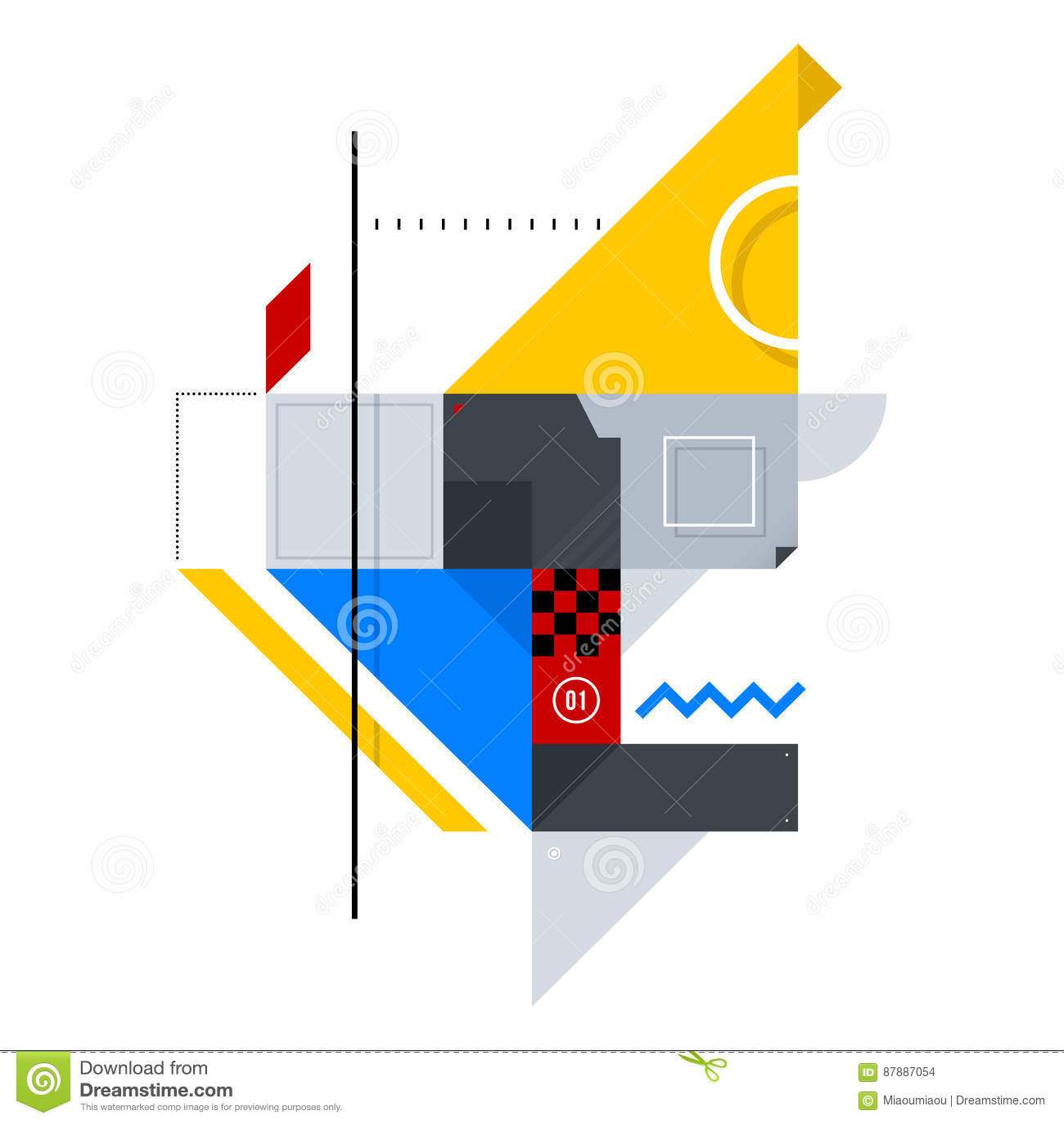 简单的形状的抽象构成