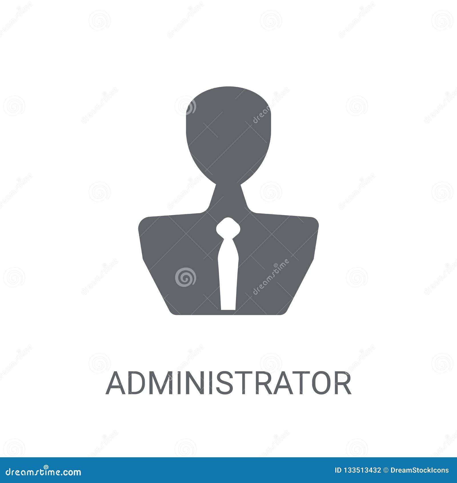 管理员象 在白色b的时髦管理员商标概念