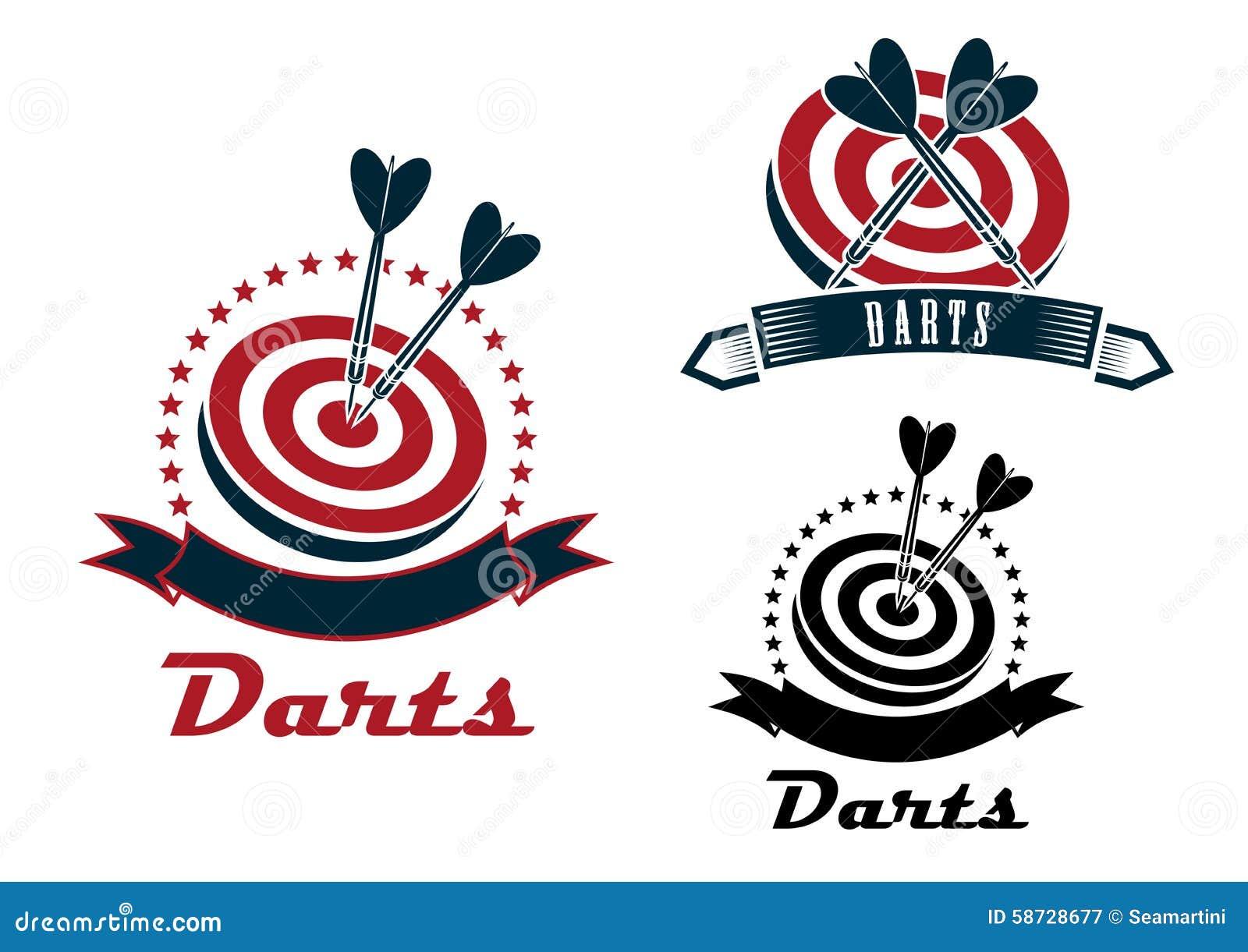 箭炫耀象征或飞镖与一支障碍标志,丝带和箭用不同的设计,深灰和红马术视频比赛横幅2017图片