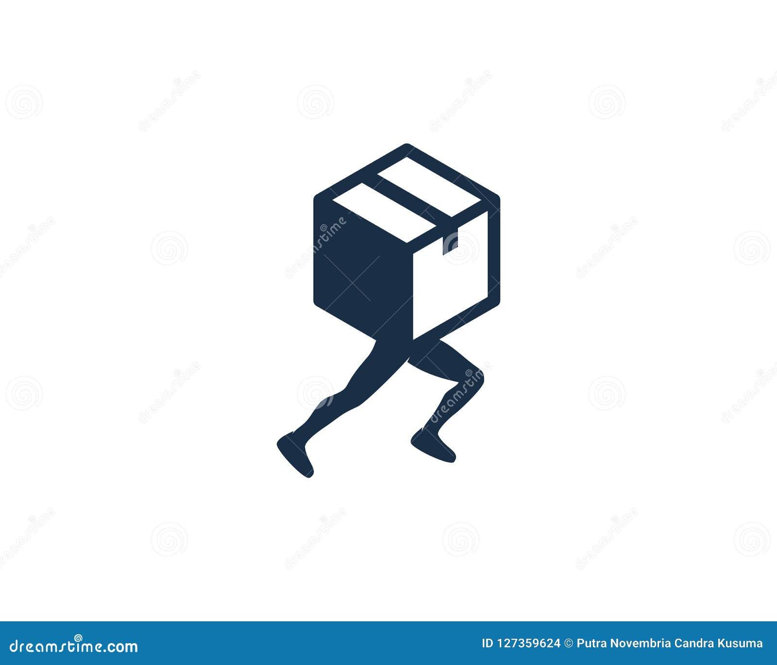 箱子奔跑商标象设计