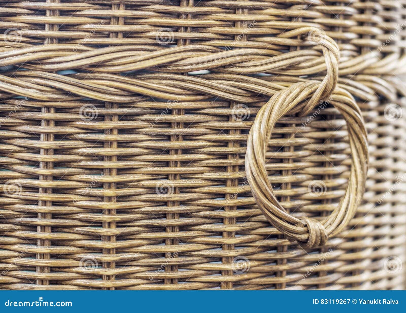 篮子纹理的藤条纹理