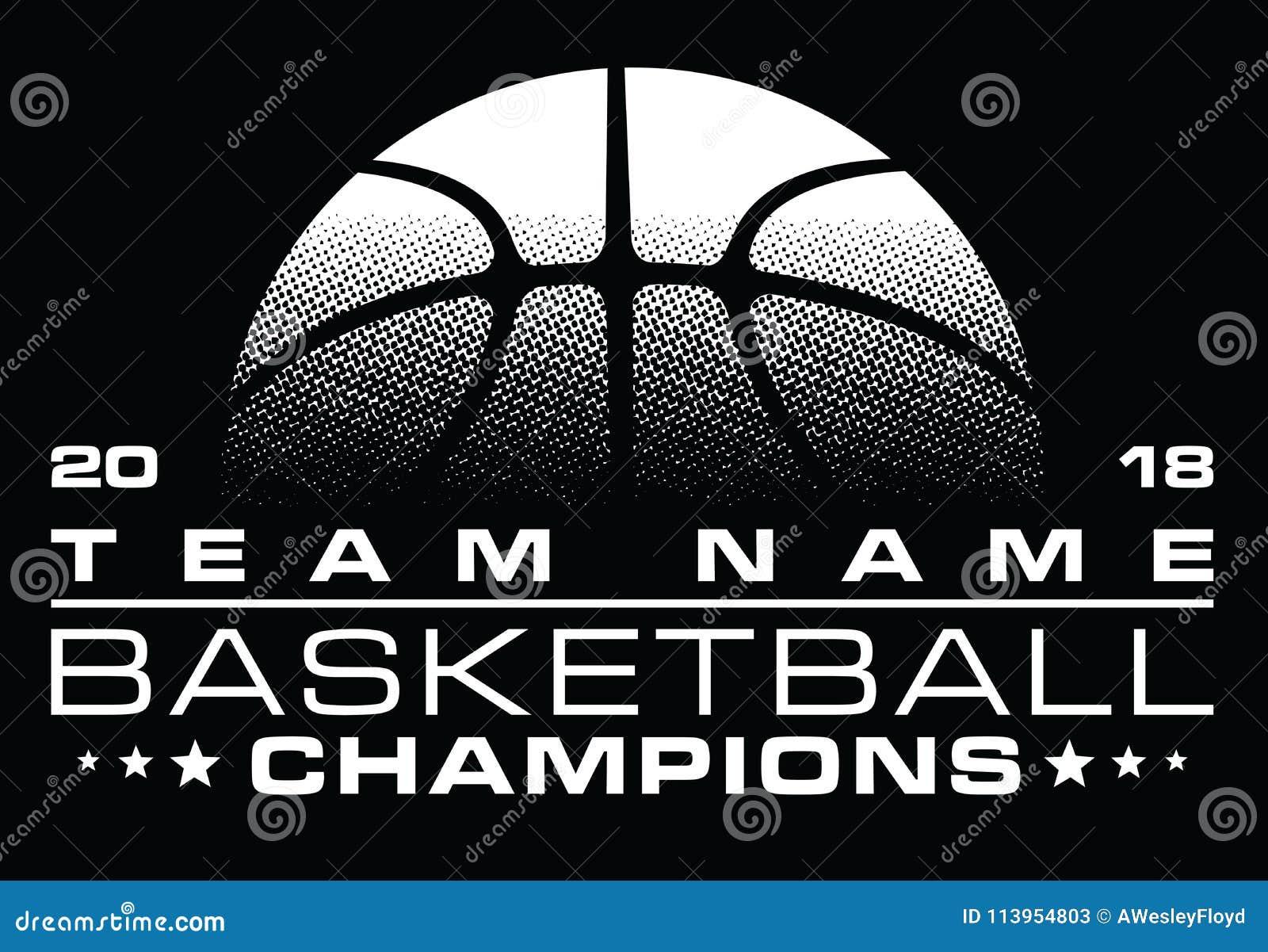 篮球与队名字的冠军设计