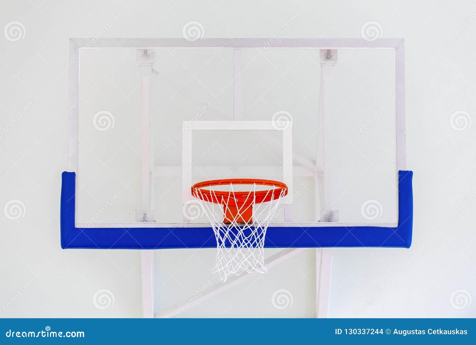 篮球篮笼子,被隔绝的大蓝球板特写镜头,新的outd
