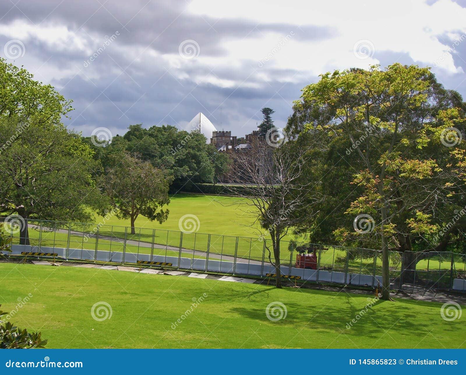 篱芭在公园