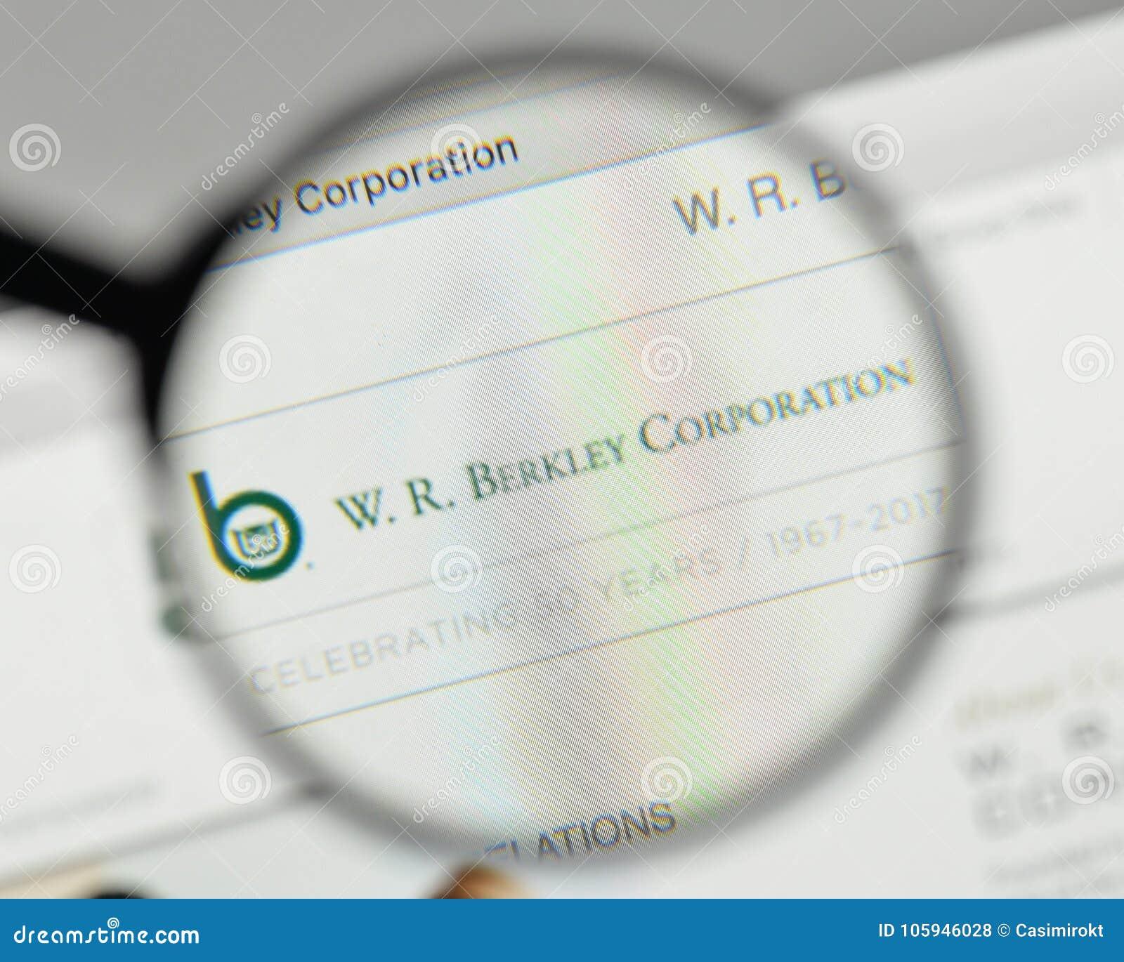 米兰,意大利- 2017年11月1日:W r 在websit的Berkley商标
