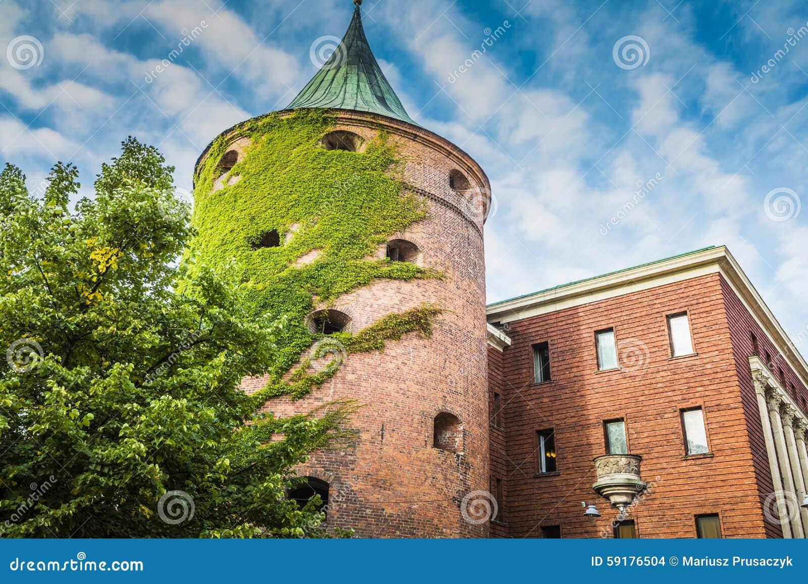 粉末塔(Pulvertornis,大约XIV c ) 在里加,拉脱维亚 从那以后