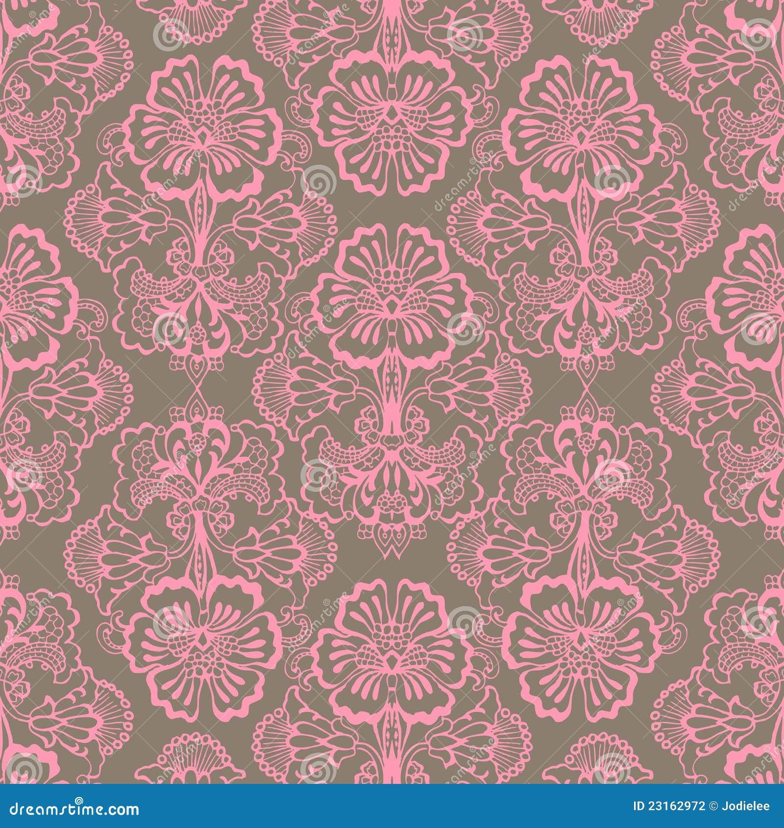 粉红色和布朗脏的葡萄酒花背景