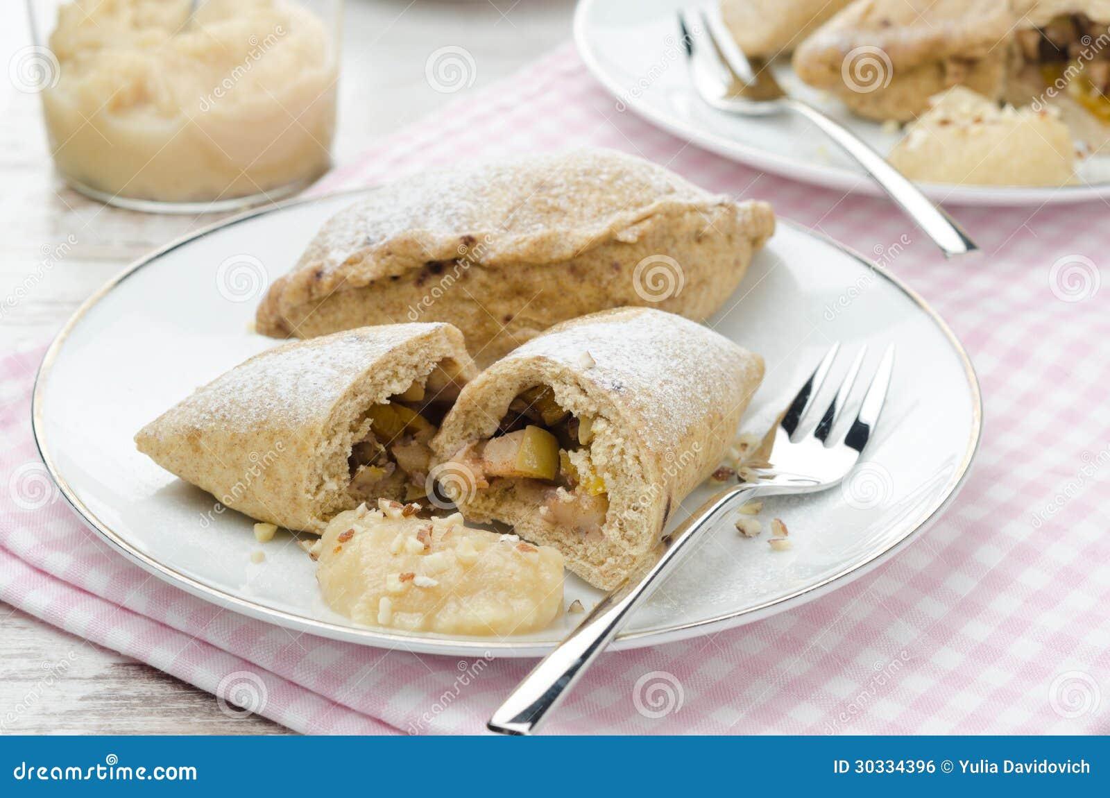 整粒饼用苹果和核桃