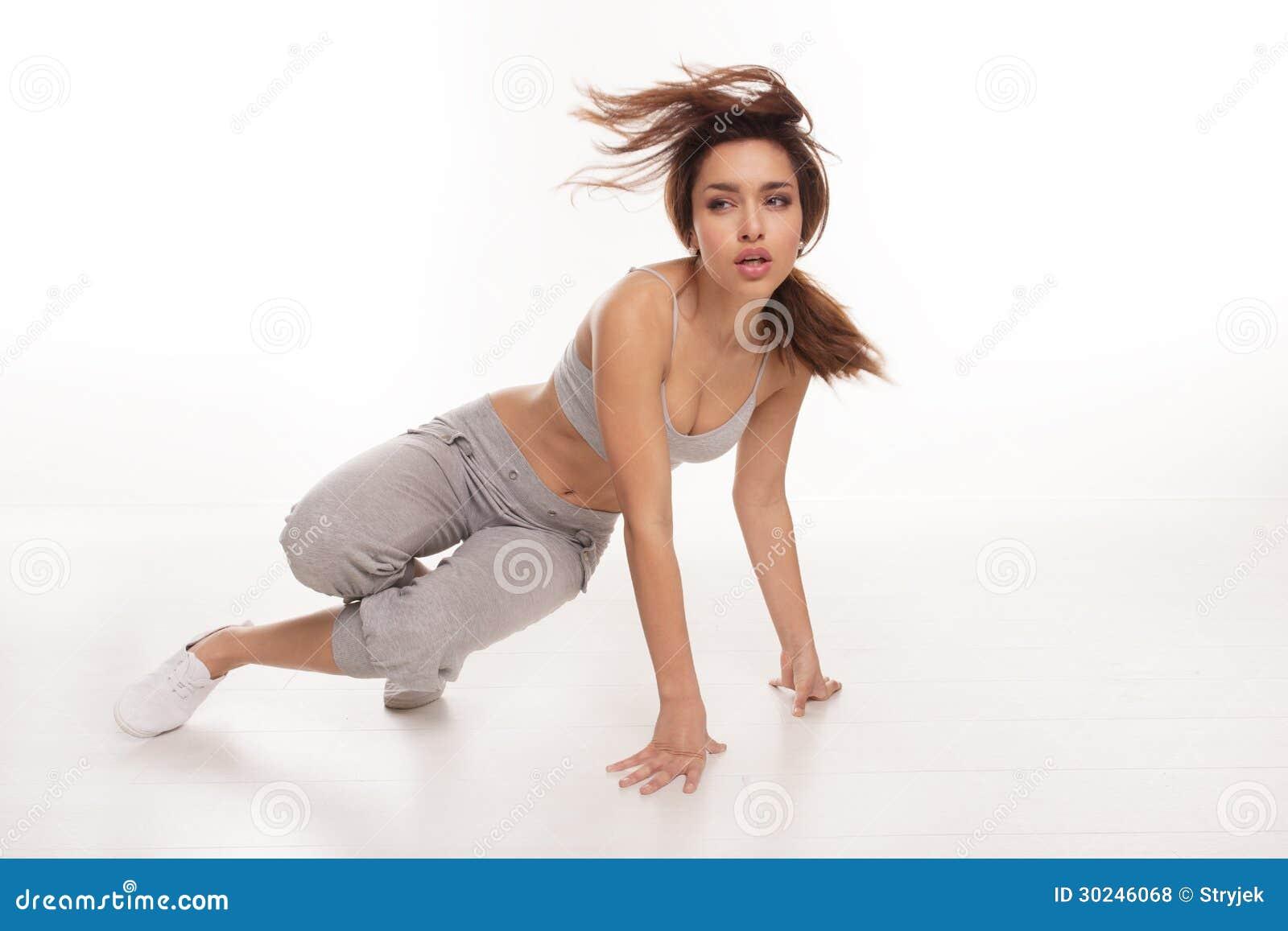 精力充沛的女性Hip Hop舞蹈家