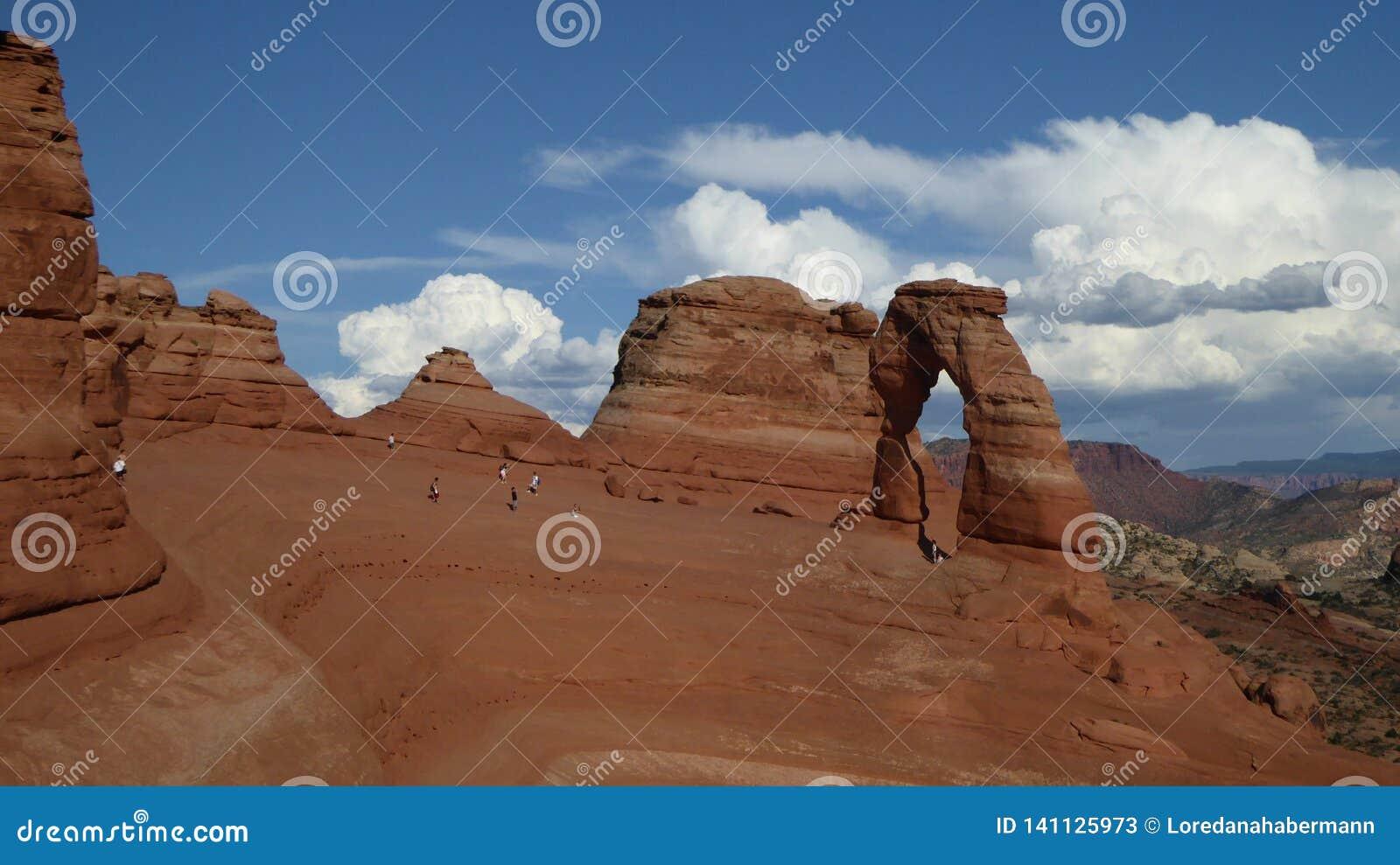精美曲拱大概是最著名的曲拱在世界上 Utha,美国