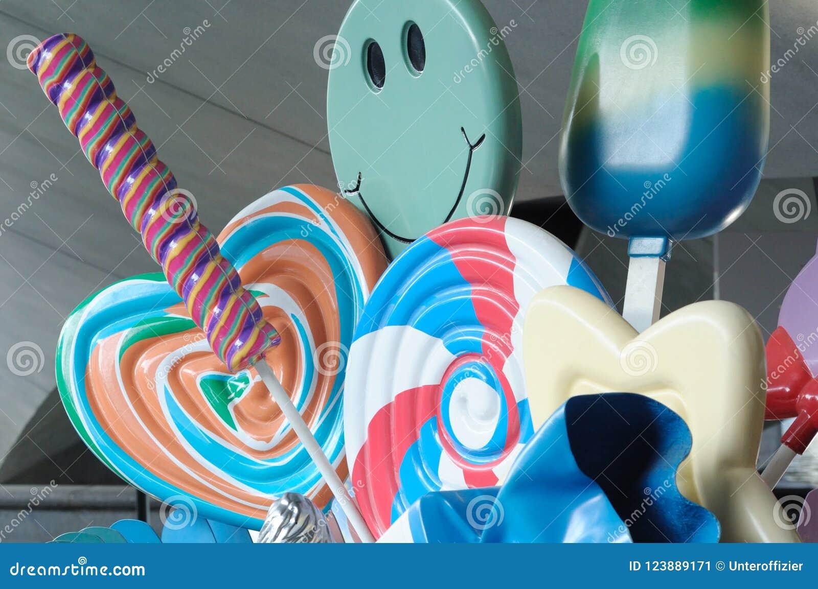 糖果和冰淇凌点心一些复制品显示