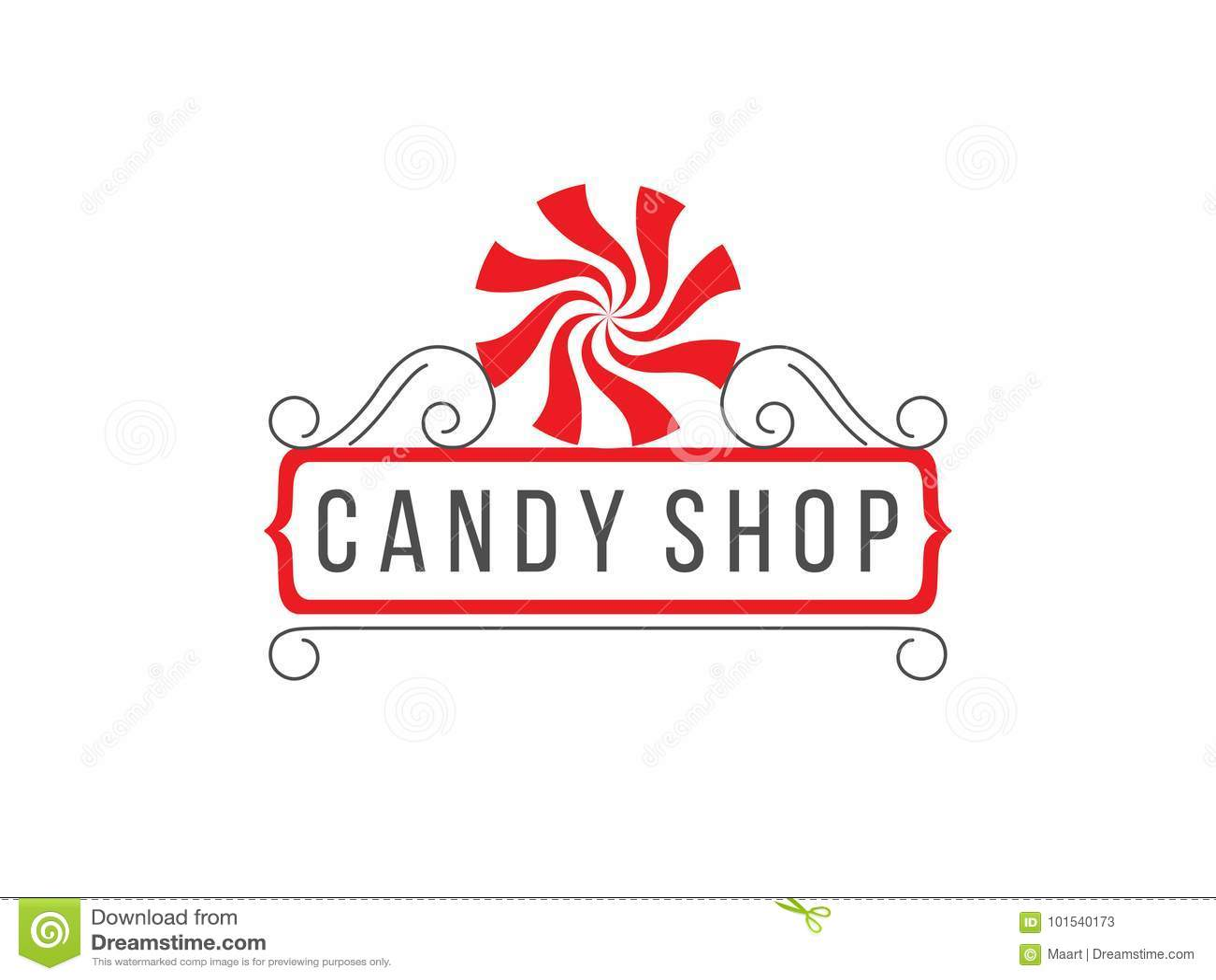 糖果商店商标