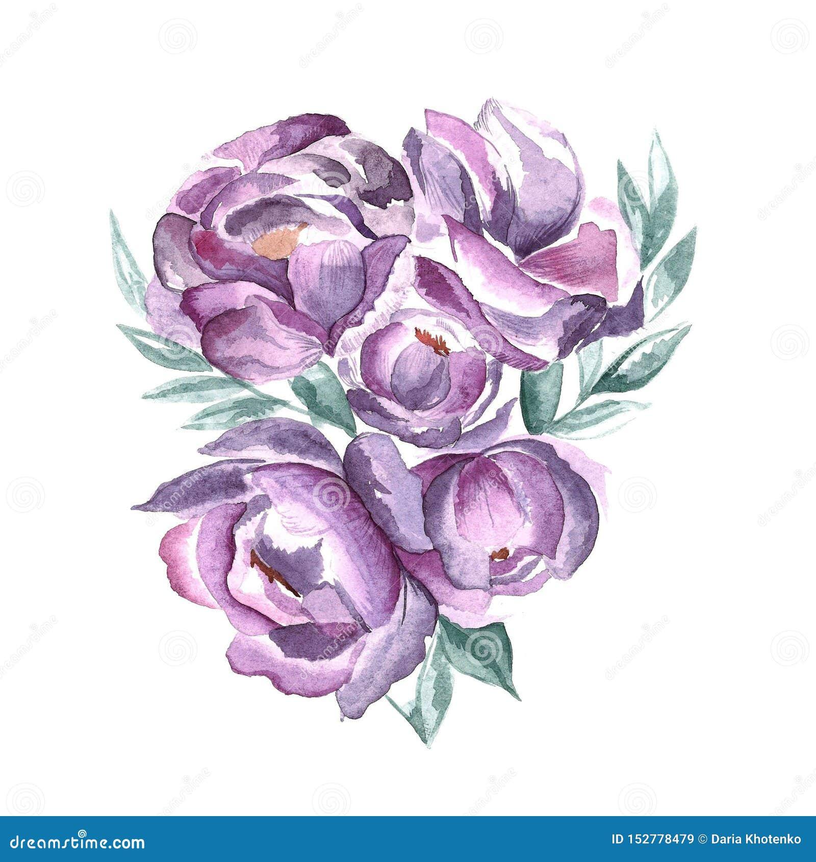 紫罗兰色春天花