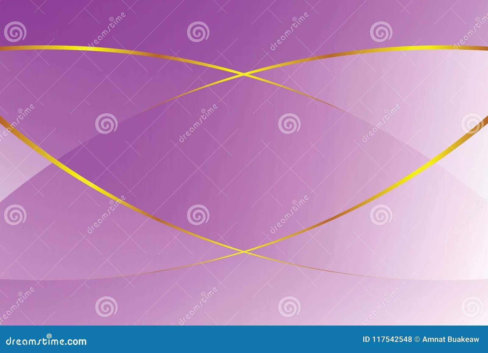 紫色梯度颜色柔光和金黄线化妆用品横幅广告豪华现代背景的图表