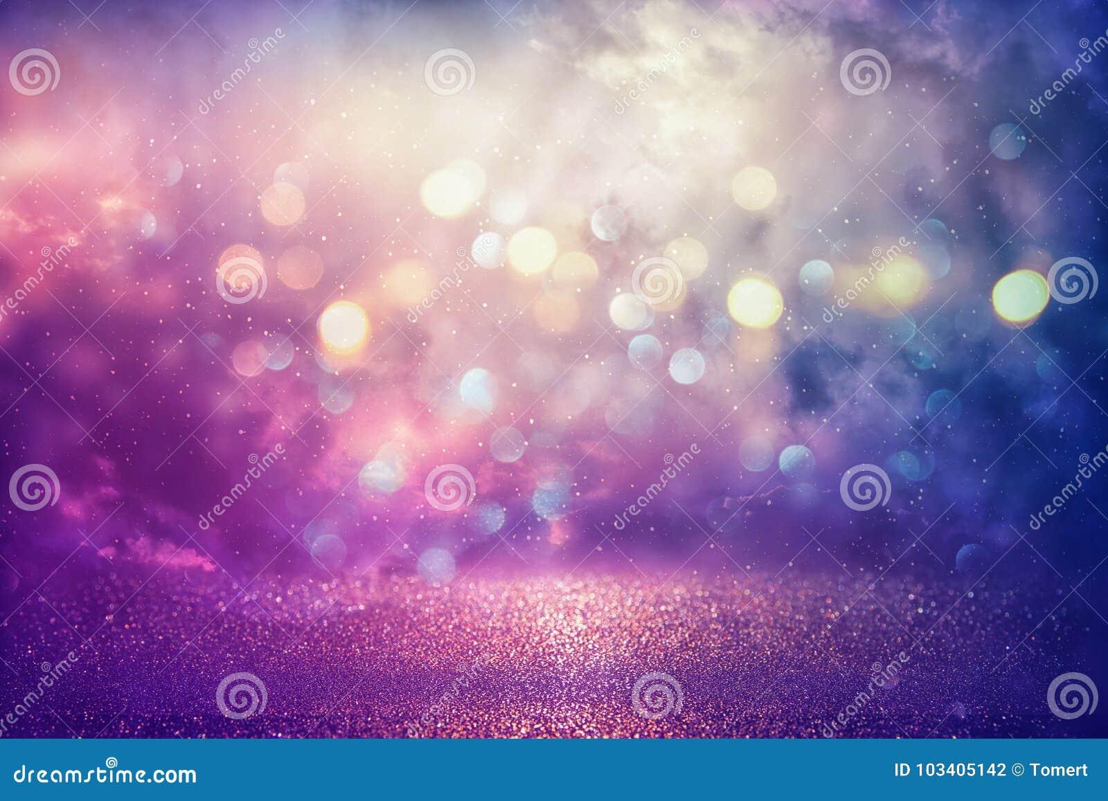紫色闪烁点燃背景 defocused