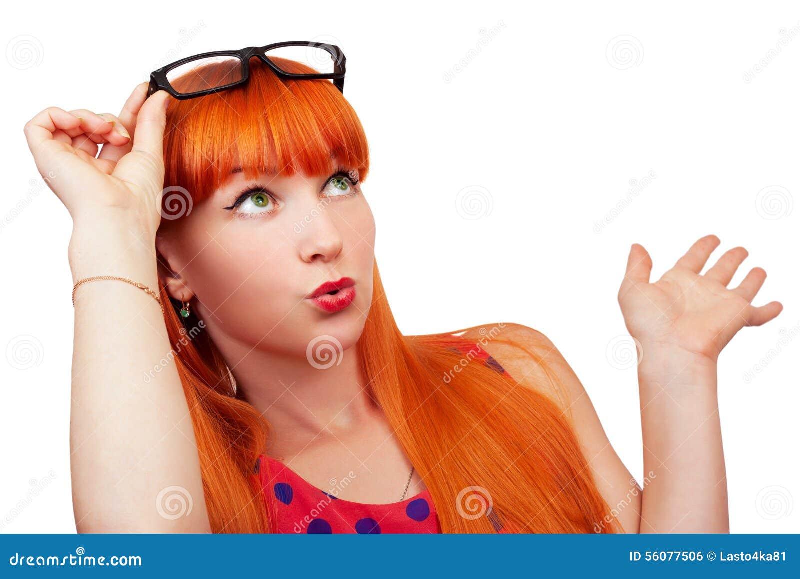 红发惊奇的女孩