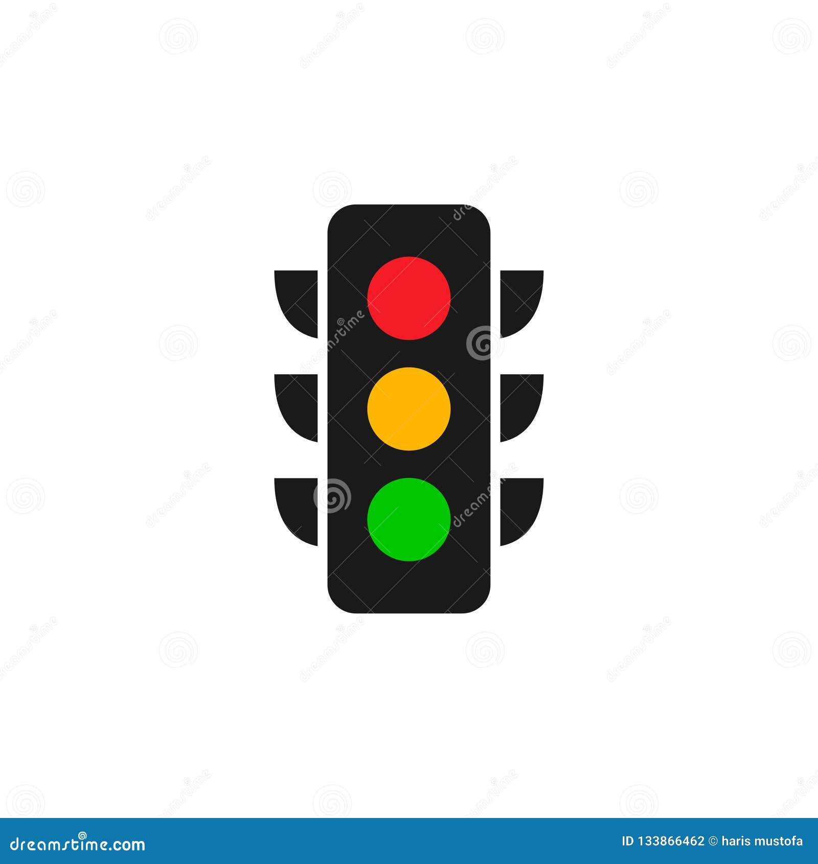 红灯商标图形设计模板传染媒介例证