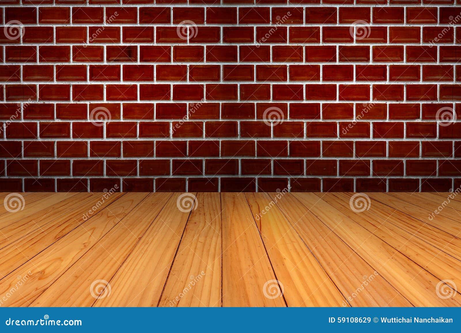 红砖墙壁和木头纹理