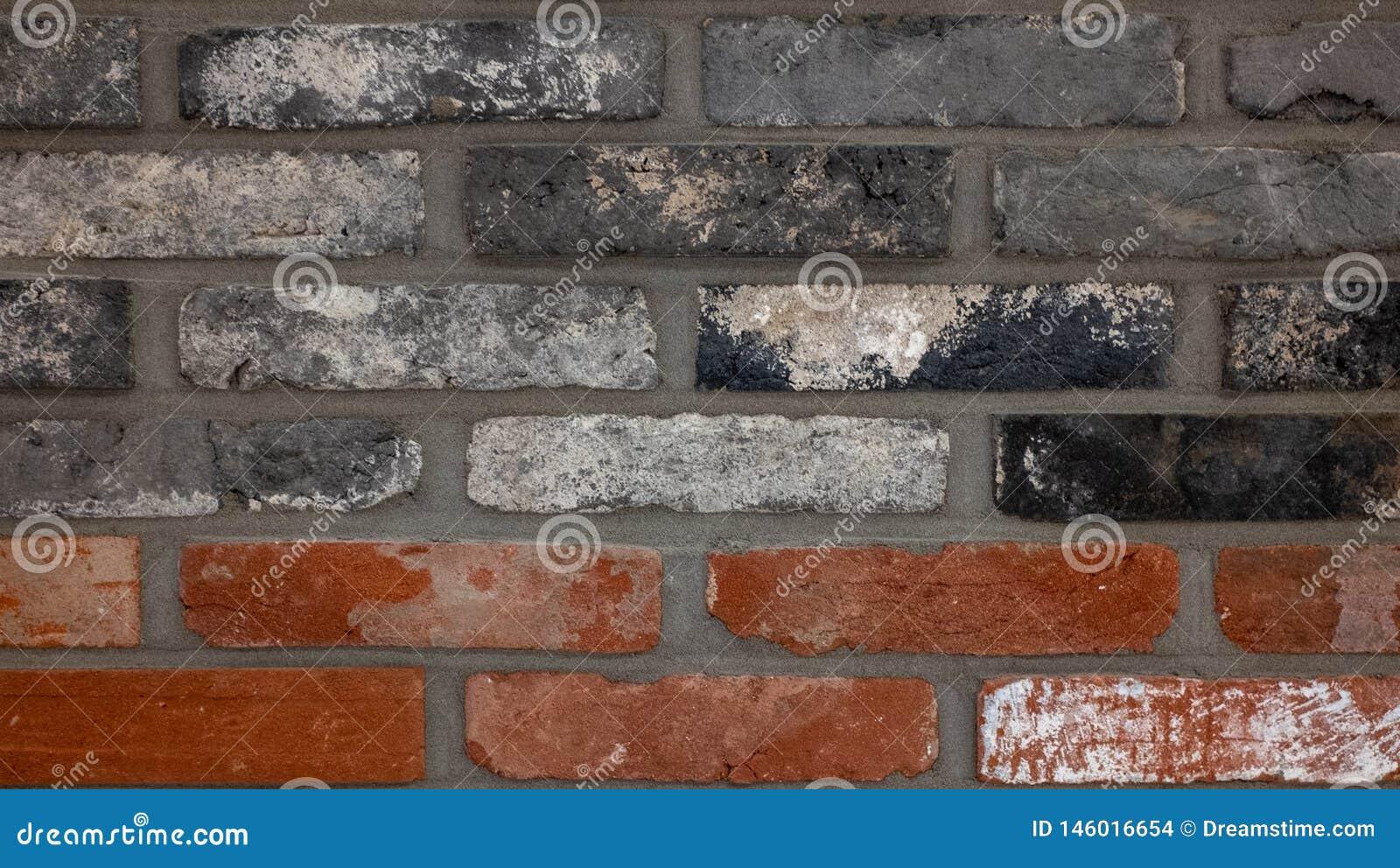 红砖,黑砖,粗糙的纹理