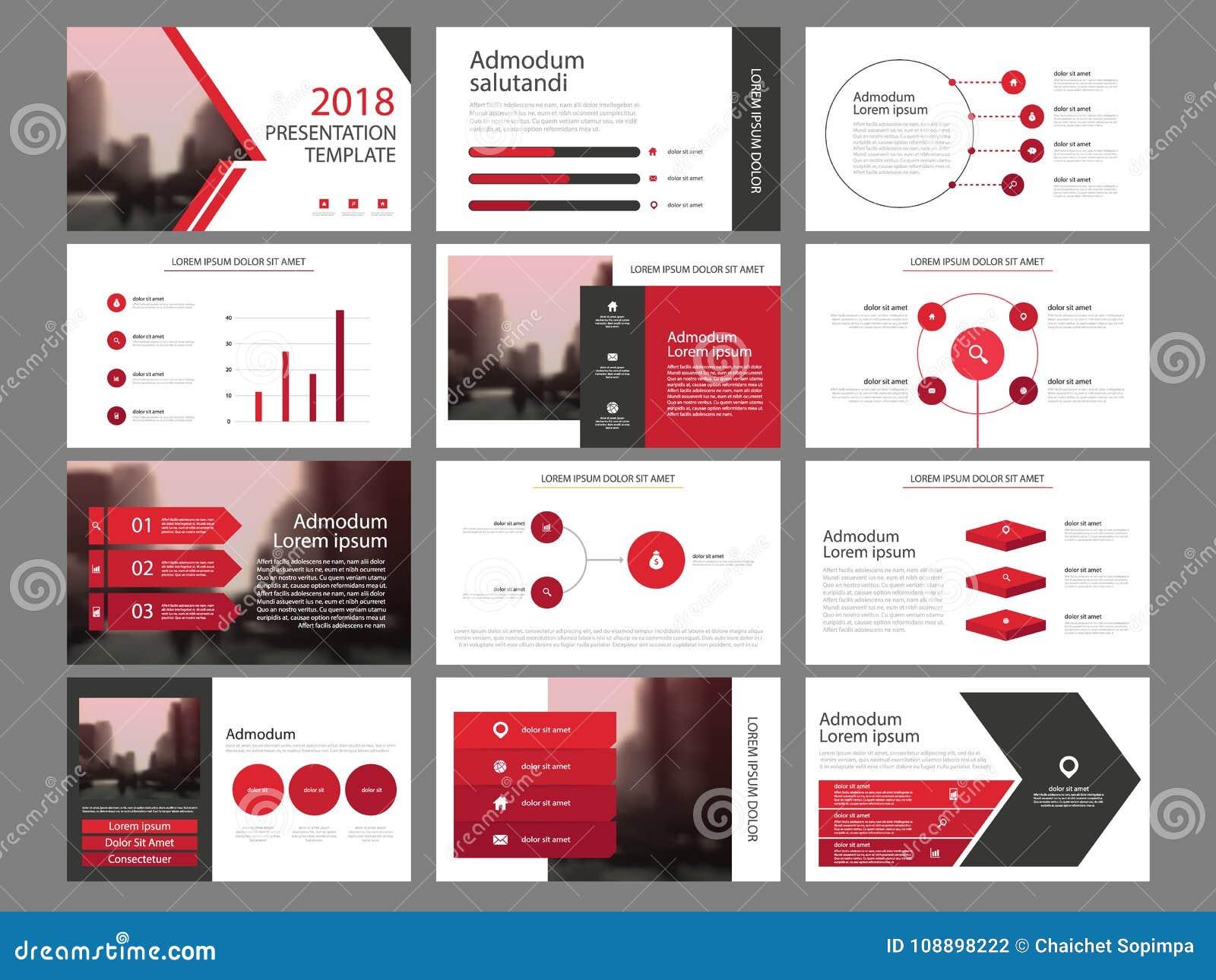 红色三角捆绑infographic元素介绍模板 企业年终报告,小册子,传单,广告飞行物,