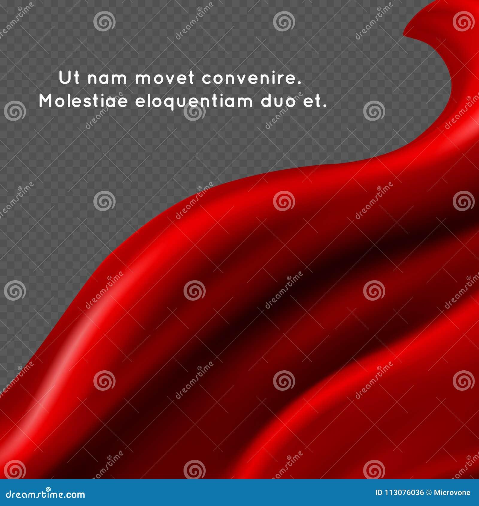 红色丝织物abstact传染媒介背景-纺织品横幅设计