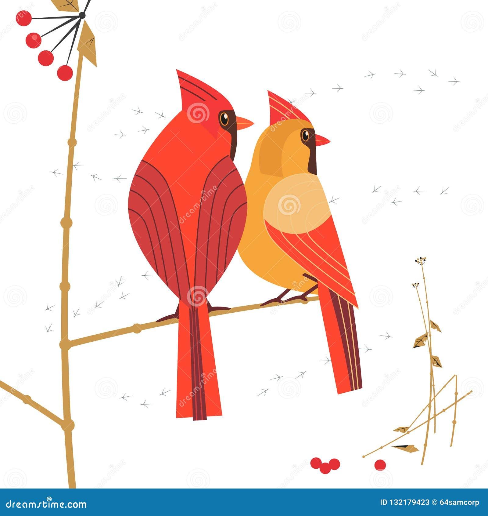 红色主要鸟象