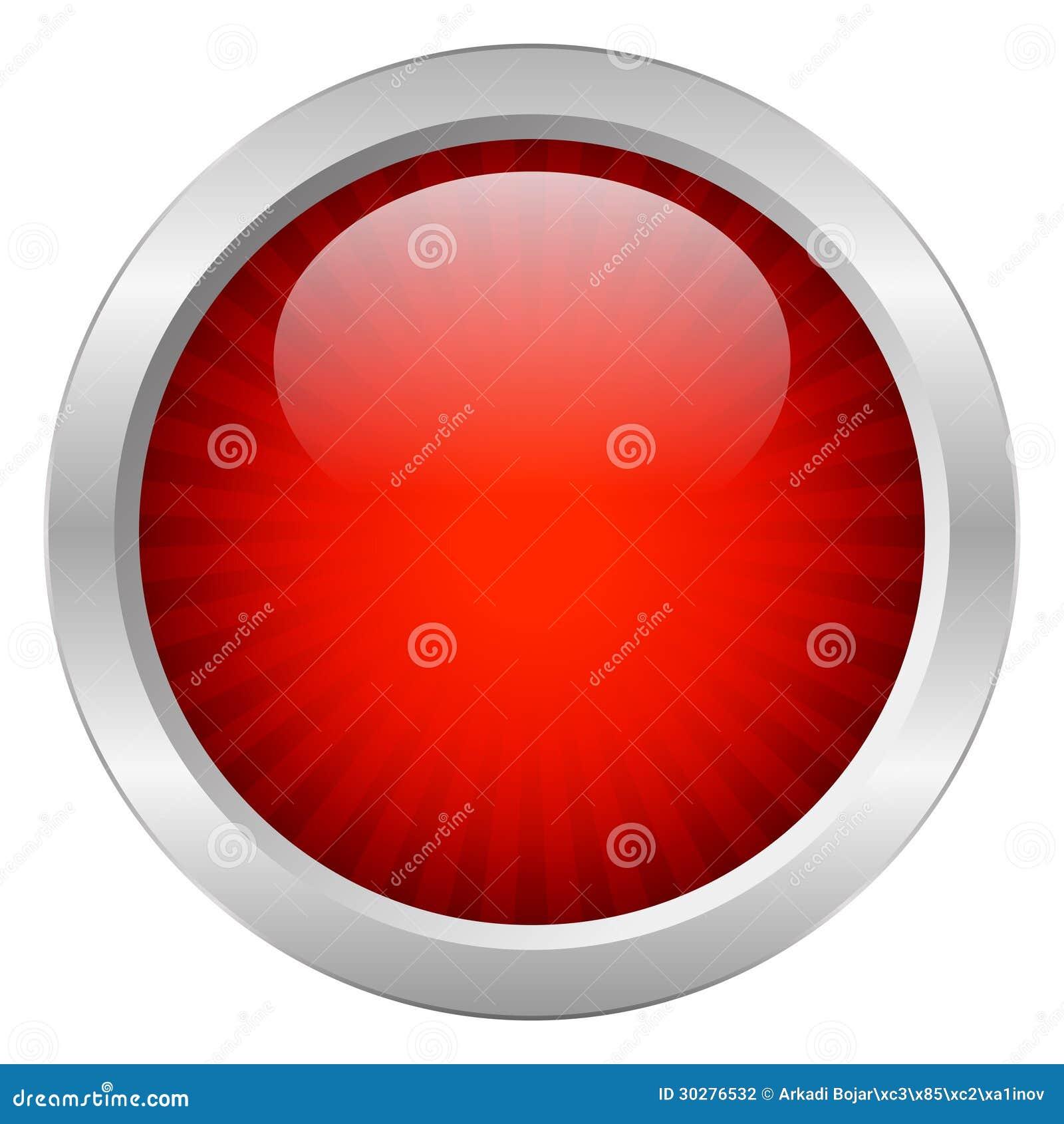 红色传染媒介按钮