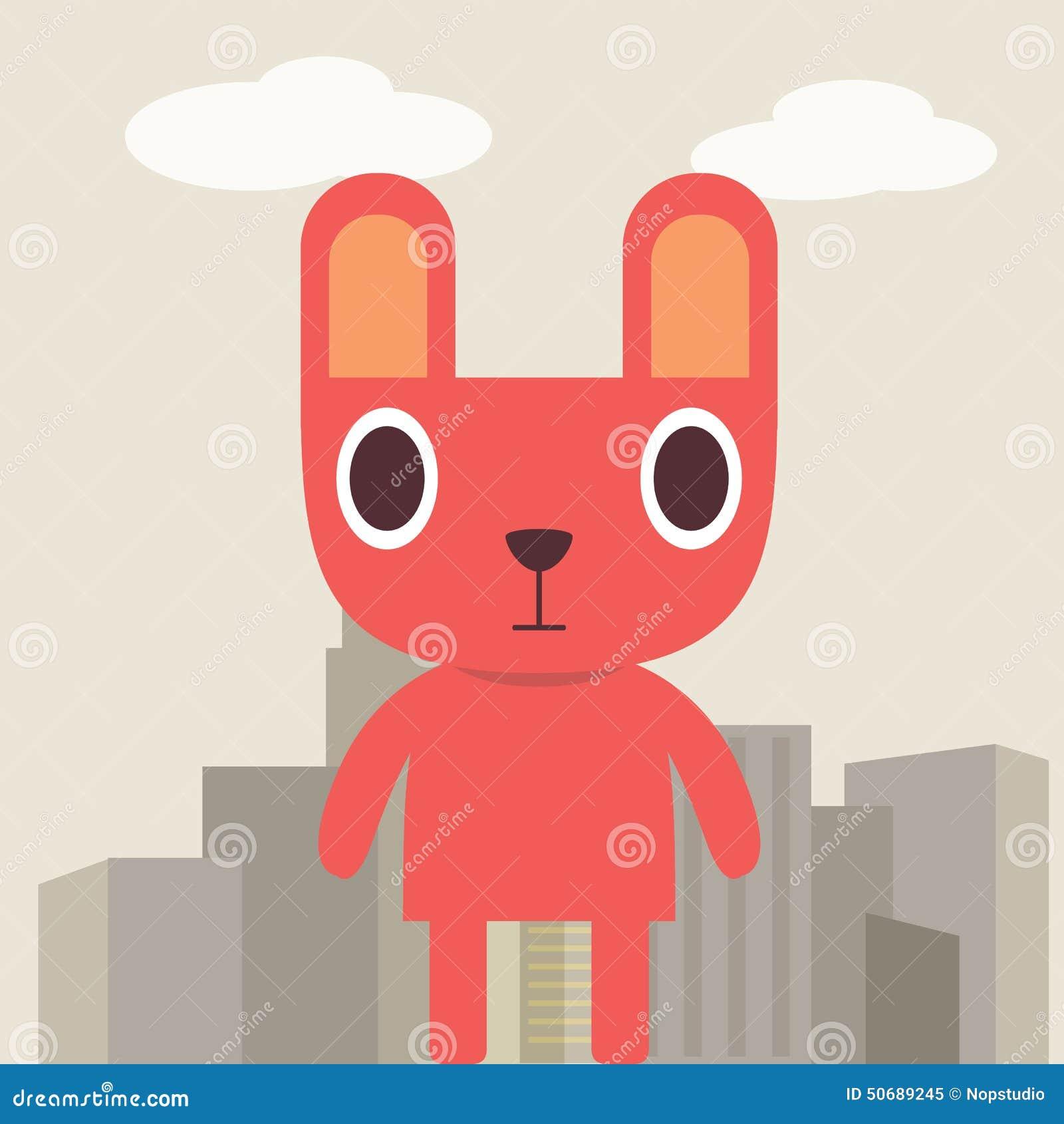 Download 红色兔宝宝 向量例证. 插画 包括有 兔子, 子项, 云彩, 灰色, 城镇, 兔宝宝, 背包, 可笑, 立场 - 50689245