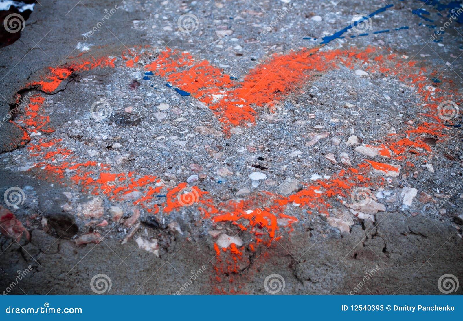 红色具体的重点被绘