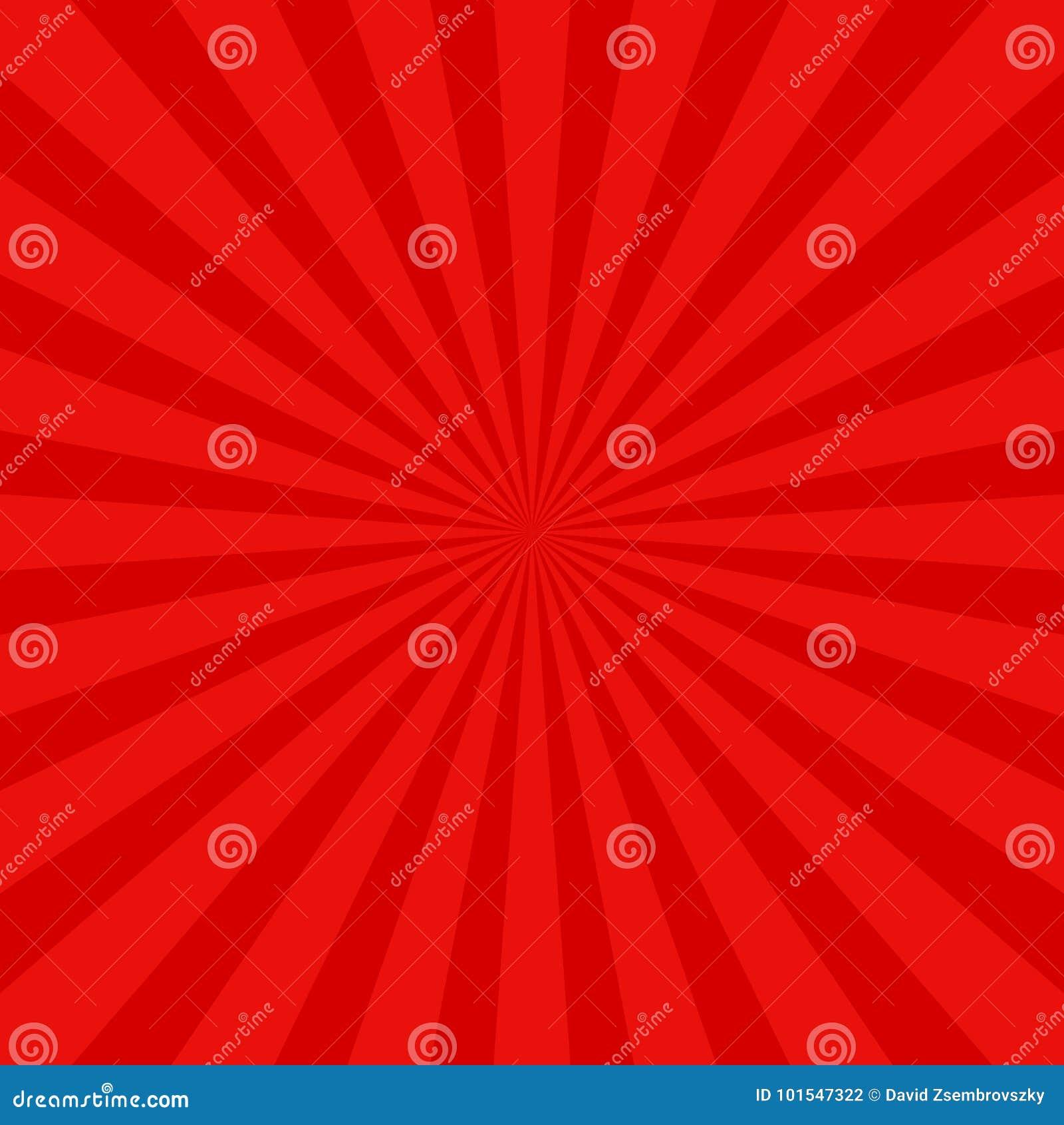 红色减速火箭的太阳光芒背景-与辐形光芒的向量图形设计