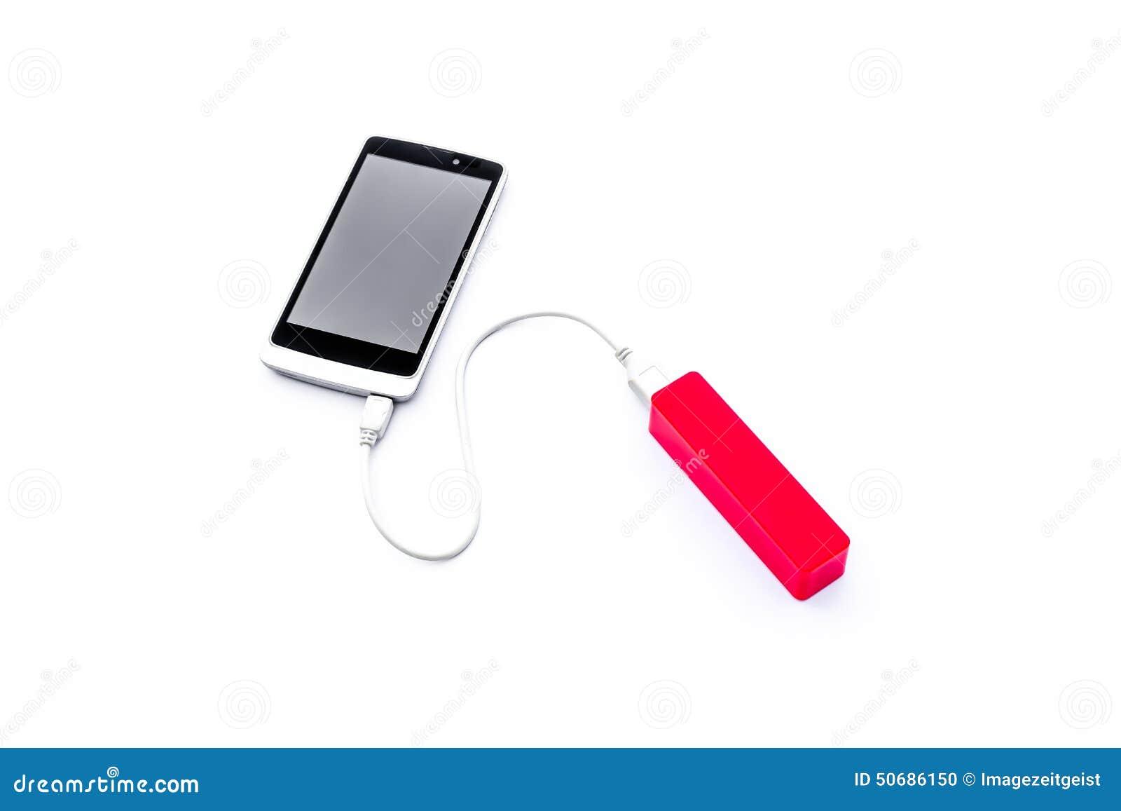 Download 红色力量在白色backg隔绝的银行和充电的手机 库存照片. 图片 包括有 技术, 谈话, 设备, 再充电 - 50686150