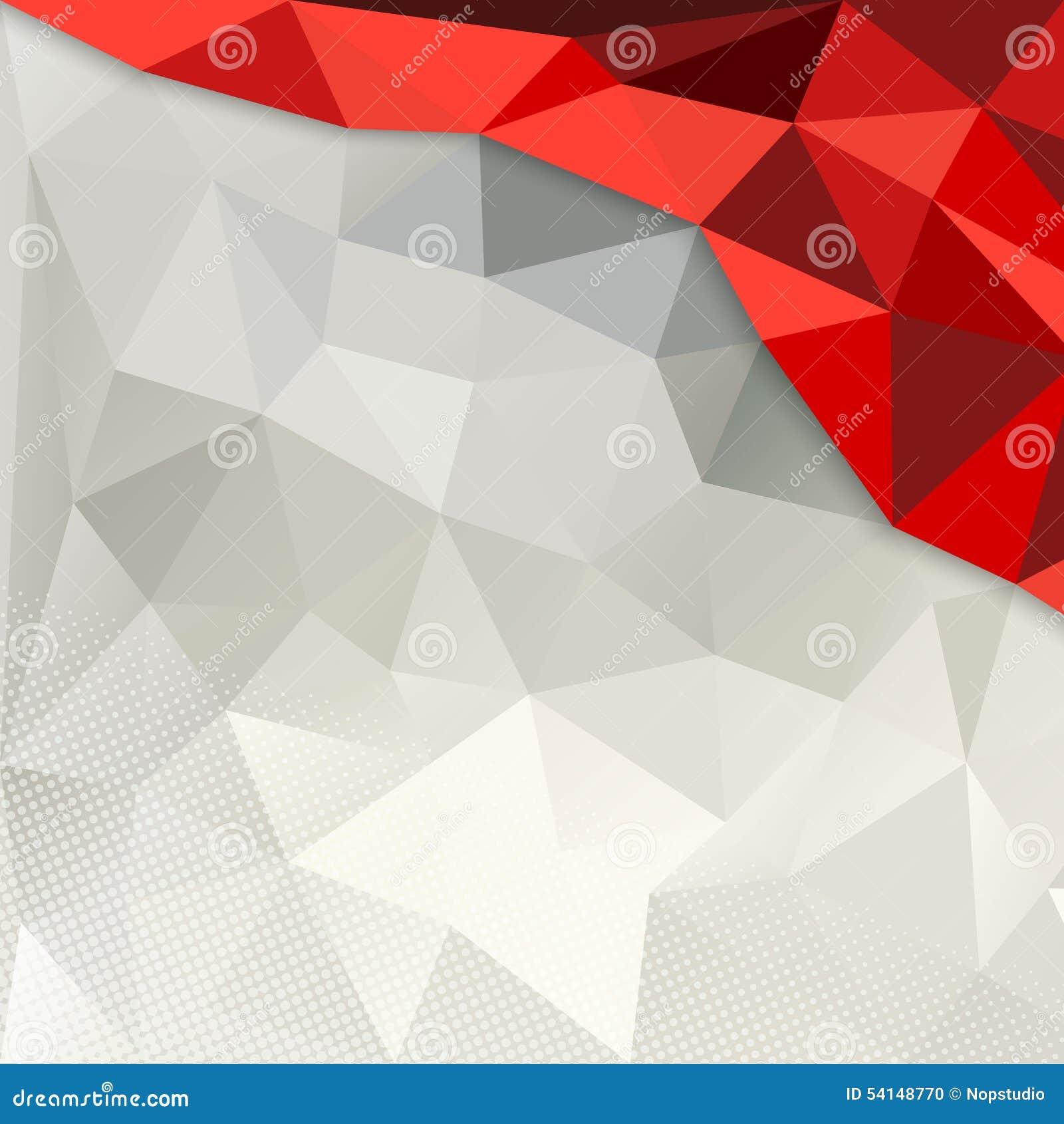 红色和白色多角形背景