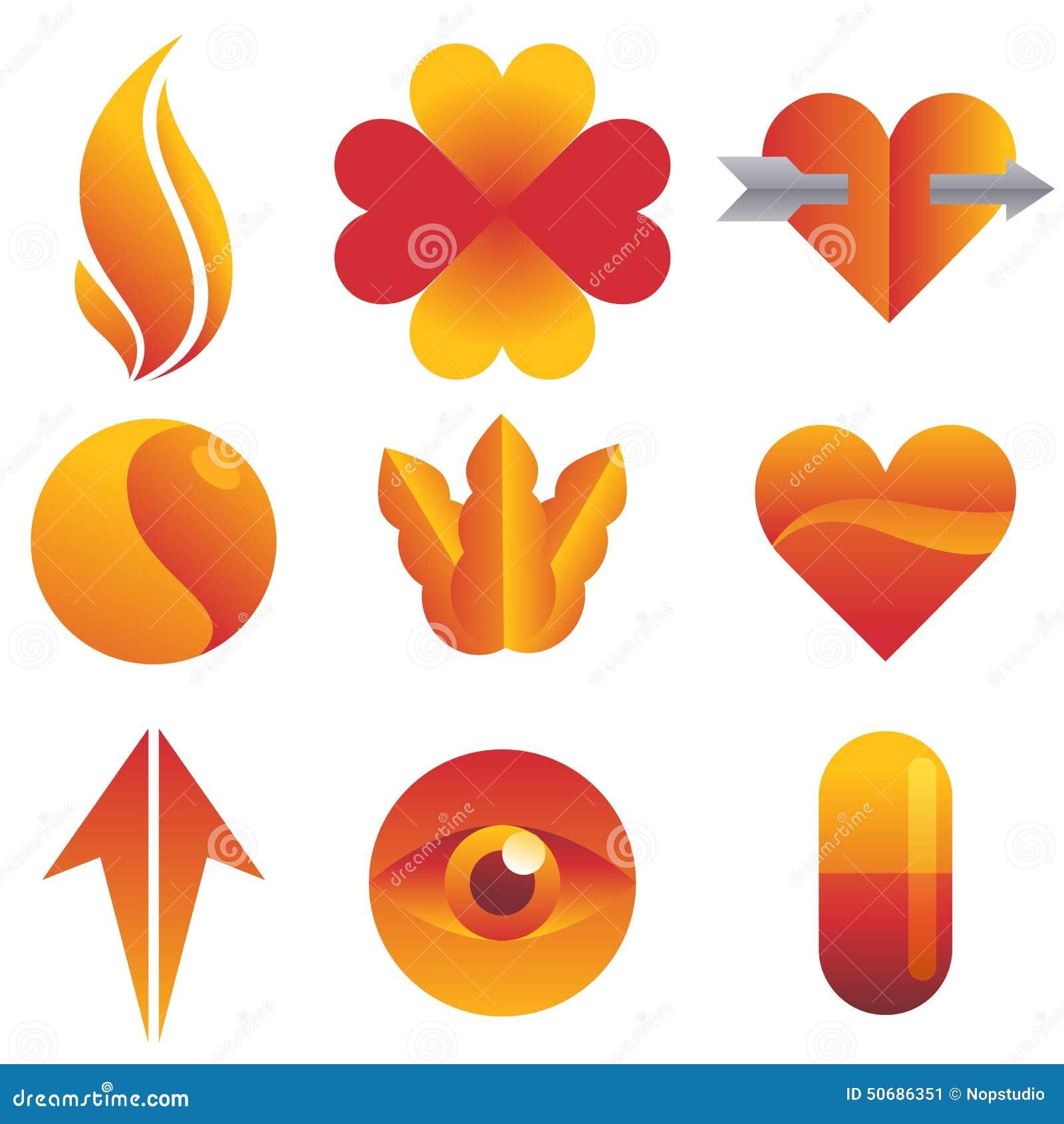 Download 红色和黄色象集合 向量例证. 插画 包括有 图标, 对象, 箭头, 红色, 徽标, 要素, 三叶草, 向量 - 50686351