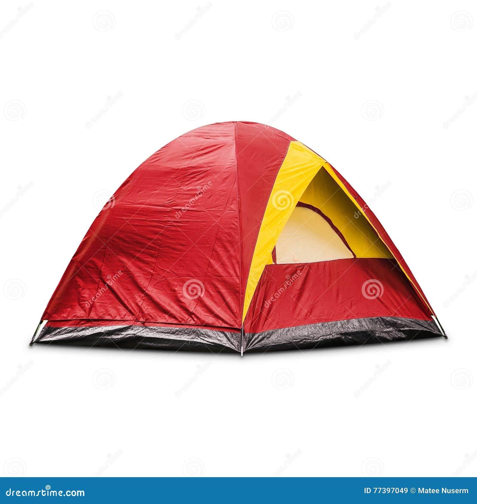 红色圆顶帐篷