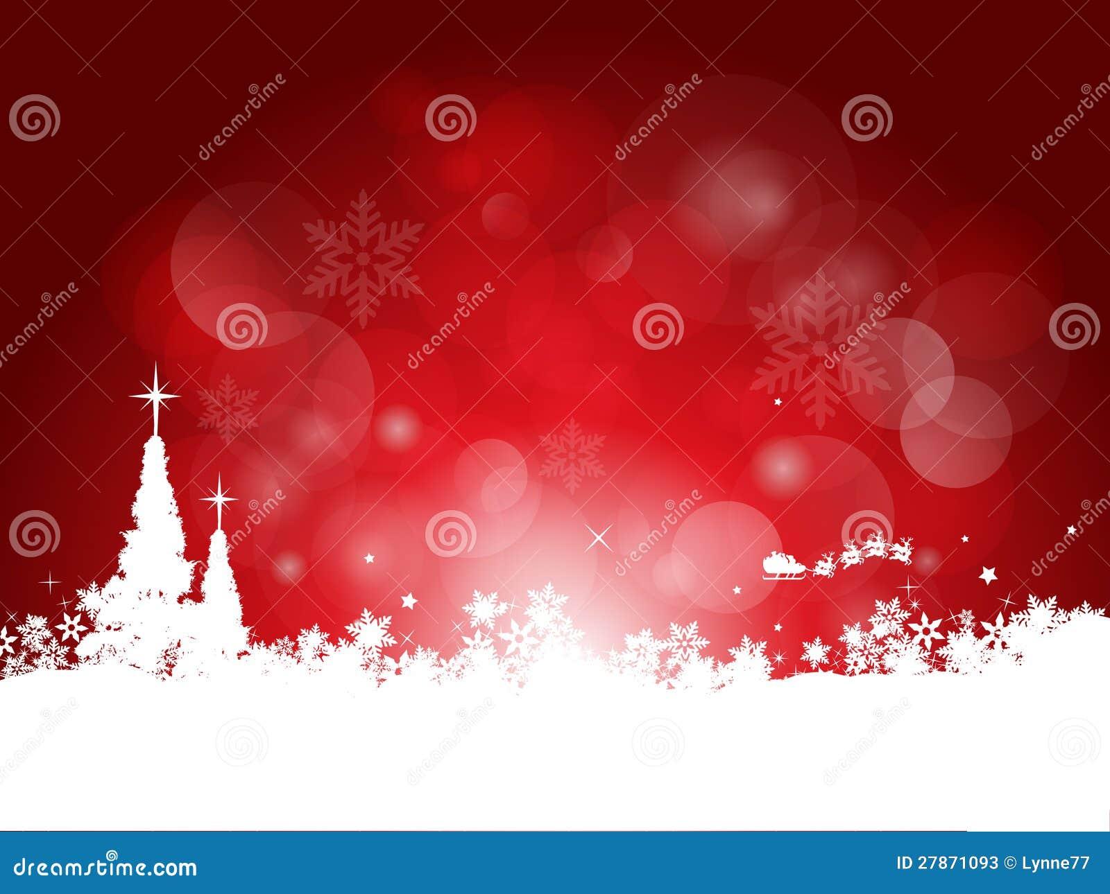 红色圣诞节背景图片