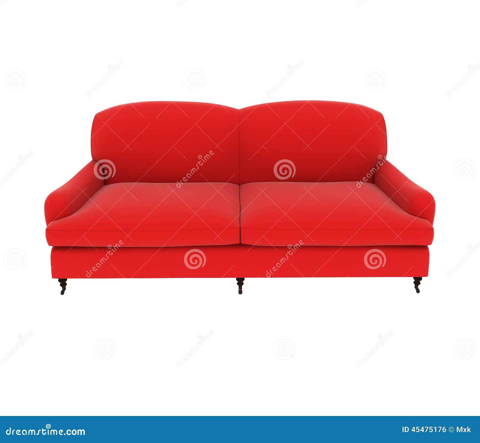红色布料沙发