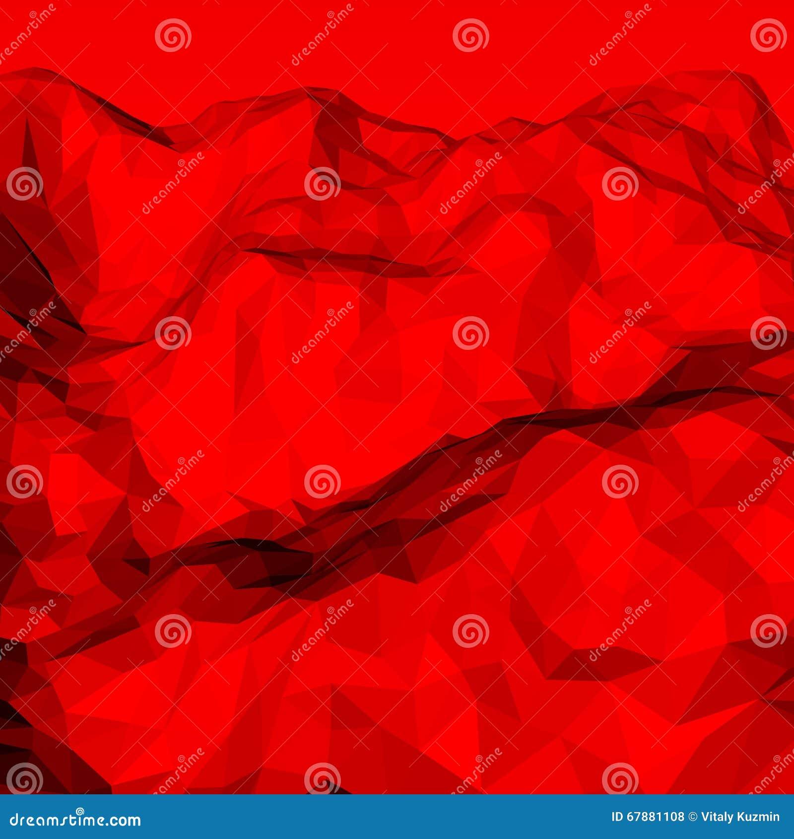 红色抽象多角形背景