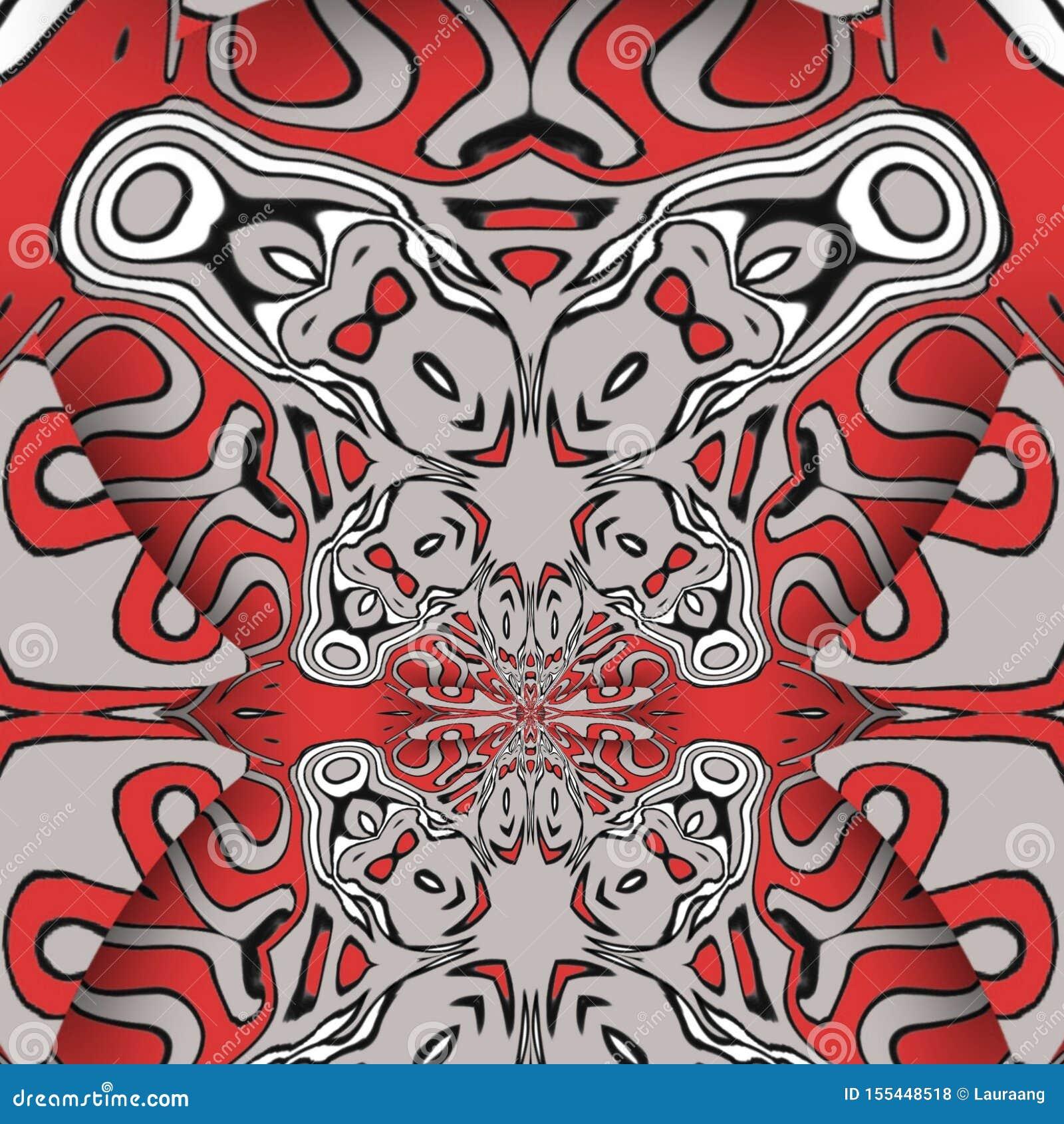 红色摘要和数字艺术形式
