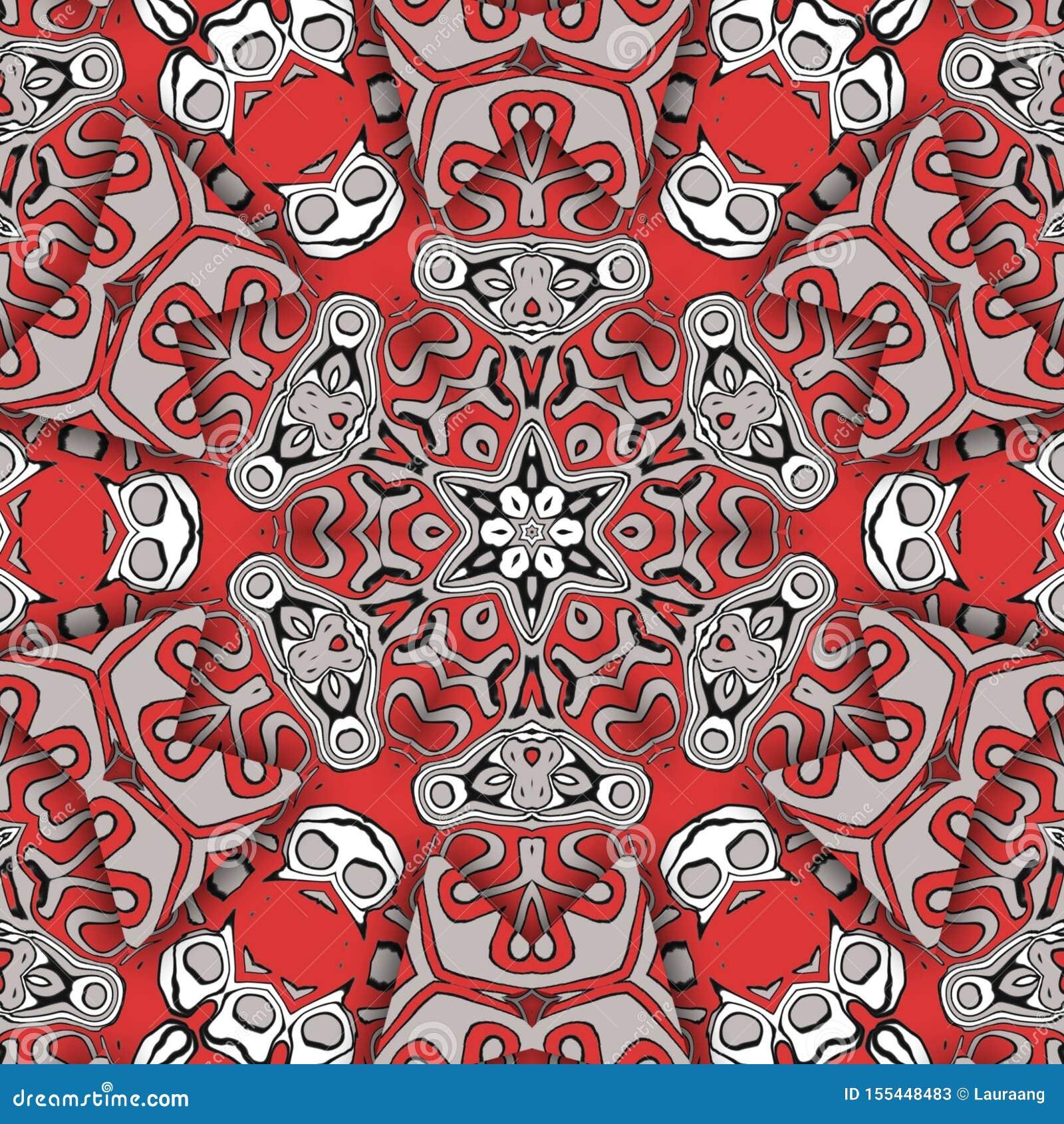 红色摘要和数字艺术面孔
